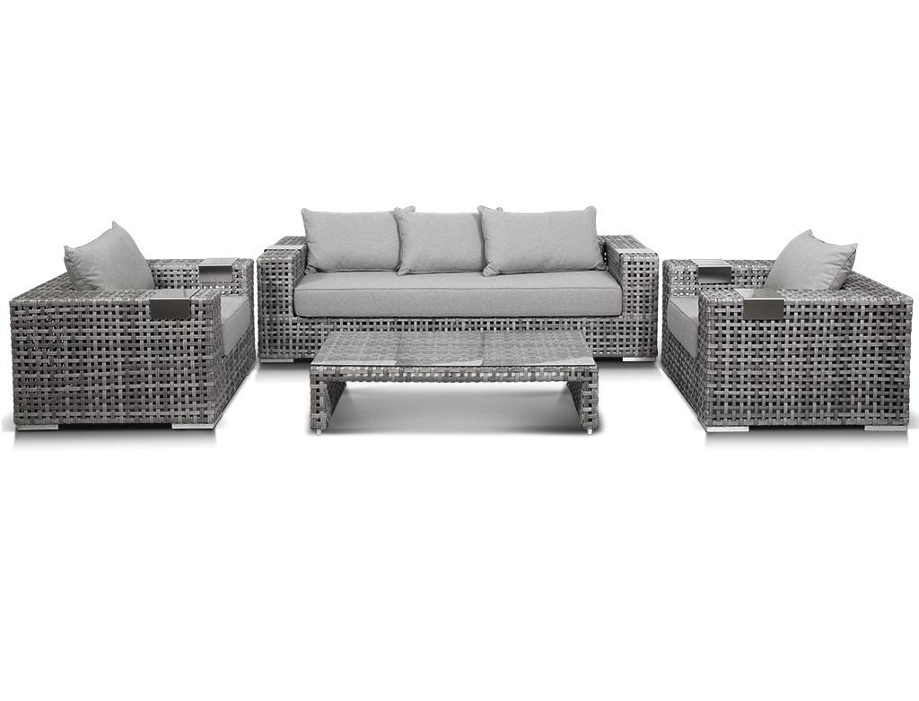 Комплект мебели ТитоКомплекты уличной мебели<br>Лаунж зона из искусственного ротанга: 1 трехместный  диван, 2 кресла и кофейный столик со стеклянной столешницей.&amp;amp;nbsp;&amp;lt;div&amp;gt;&amp;lt;br&amp;gt;&amp;lt;/div&amp;gt;&amp;lt;div&amp;gt;Материал: алюминиевый каркас, искусственный ротанг, ручное плетение.&amp;amp;nbsp;&amp;lt;/div&amp;gt;&amp;lt;div&amp;gt;Подлокотники дивана и кресел оснащены алюминиевыми  подставками.&amp;amp;nbsp;&amp;lt;/div&amp;gt;&amp;lt;div&amp;gt;В комплекте подушки со съемными чехлами.&amp;lt;/div&amp;gt;&amp;lt;div&amp;gt;Размер дивана:&amp;amp;nbsp;228*92*61 см.&amp;lt;br&amp;gt;&amp;lt;/div&amp;gt;&amp;lt;div&amp;gt;Размер кресла:&amp;amp;nbsp;112*92*61 см.&amp;lt;br&amp;gt;&amp;lt;/div&amp;gt;&amp;lt;div&amp;gt;Размер столика:&amp;amp;nbsp;130*68*30 см.&amp;lt;br&amp;gt;&amp;lt;/div&amp;gt;<br><br>Material: Искусственный ротанг<br>Length см: None<br>Width см: None<br>Height см: None
