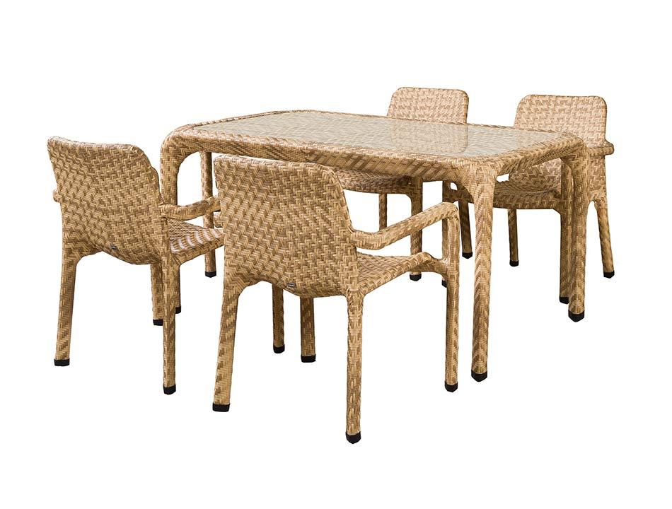 Обеденная группа  ТуринКомплекты уличной мебели<br>Обеденная группа на 4 персоны.&amp;lt;div&amp;gt;Стол со стеклянной столешницей толщиной 8 мм.&amp;lt;/div&amp;gt;&amp;lt;div&amp;gt;Материал: алюминиевый каркас, искусственный ротанг, плетение плоское.&amp;lt;/div&amp;gt;&amp;lt;div&amp;gt;&amp;lt;br&amp;gt;&amp;lt;/div&amp;gt;&amp;lt;div&amp;gt;Размер стола:&amp;amp;nbsp;150*90*76 см&amp;lt;/div&amp;gt;&amp;lt;div&amp;gt;Размер стула (2шт):&amp;amp;nbsp;65*65*85 см&amp;lt;/div&amp;gt;<br><br>Material: Ротанг<br>Length см: None<br>Width см: None<br>Height см: None