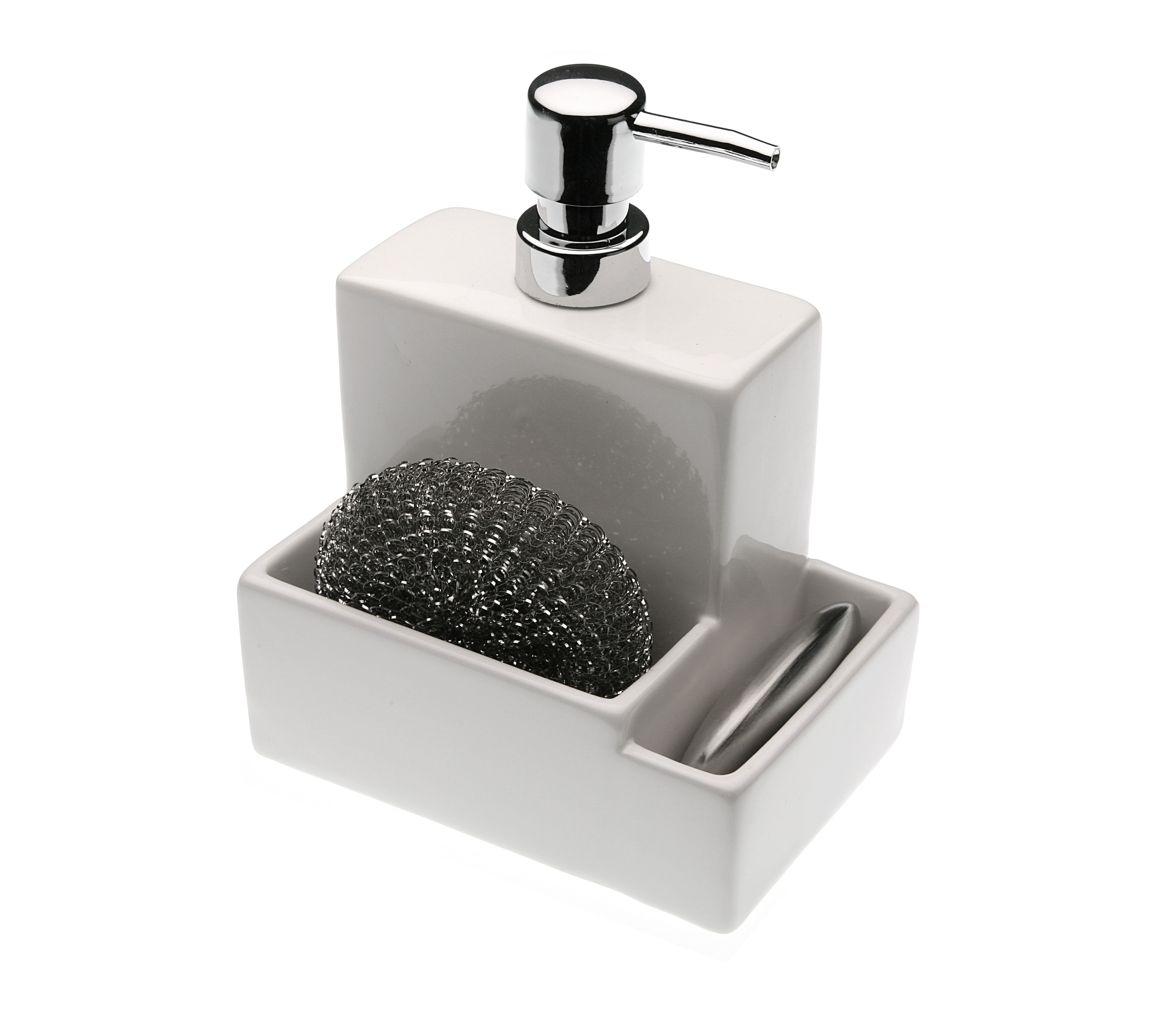 Дозатор для мыла с мочалкойАксессуары для кухни<br><br><br>Material: Керамика<br>Length см: None<br>Width см: 15<br>Depth см: 13<br>Height см: 20