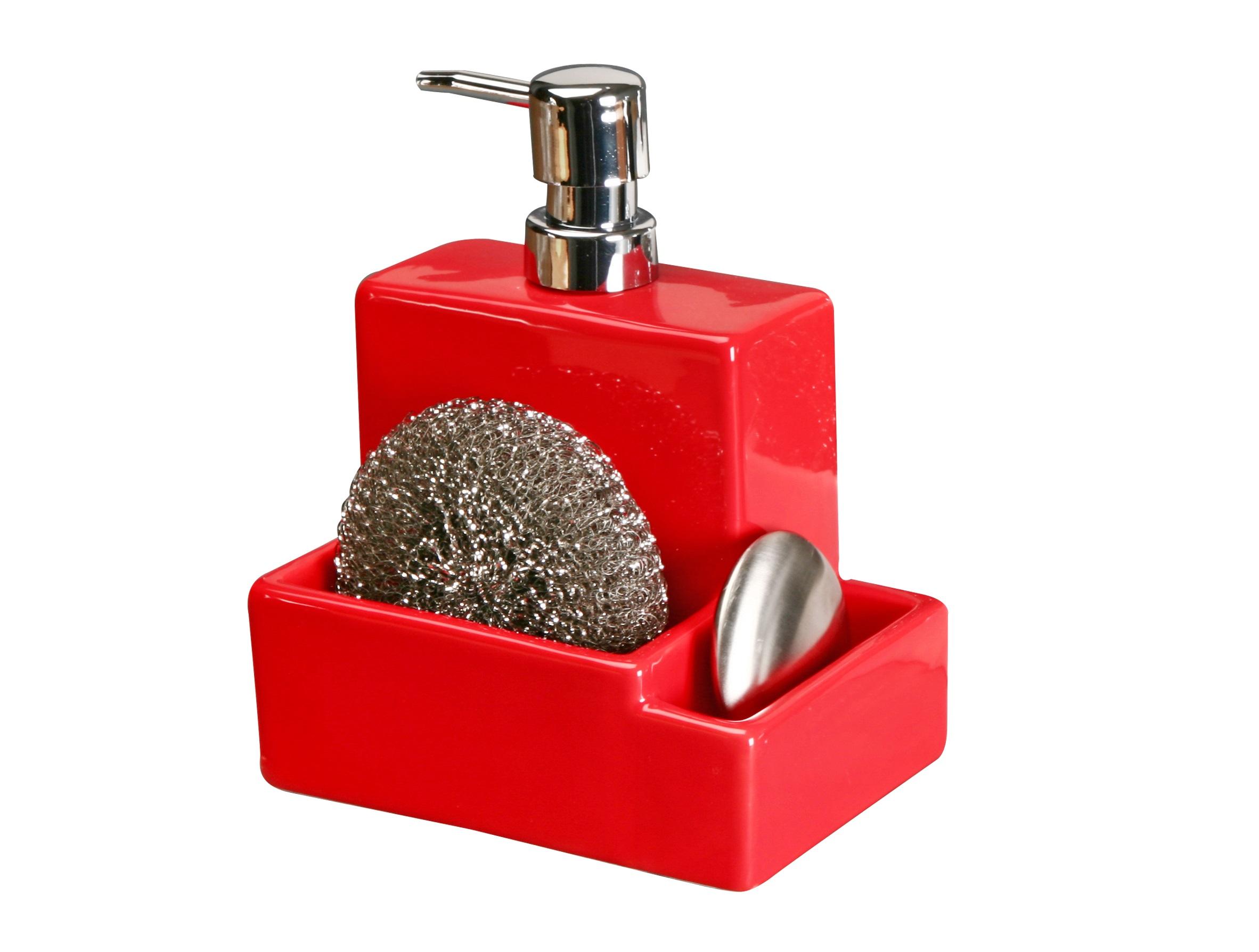 Дозатор для мыла с мочалкой