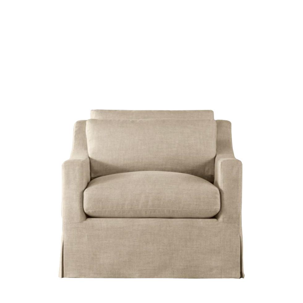 Кресло HorleyИнтерьерные кресла<br>Кресло &amp;quot;Horley&amp;quot; создано в лучших европейских традициях. Оно универсальное и удобное, с низкой посадкой и мягким наклоном. Единая подушка сиденья и достаточно большая глубина позволяют наслаждаться отдыхом, а полностью съемный чехол решает проблему стирки и чистки.<br><br>Material: Текстиль<br>Width см: 89<br>Depth см: 99<br>Height см: 80