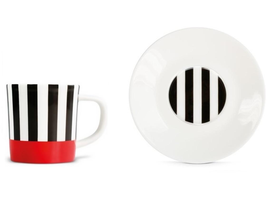 Чашка для эспрессо с блюдцем Black stripesЧайные пары, чашки и кружки<br>Набор из чашки для эспрессо с блюдцем в подарочной коробке. Элегантная форма и яркие цвета добавят хорошего настроения всем любителям кофе. Отличный подарок для себя или знакомых.&amp;amp;nbsp;&amp;lt;div&amp;gt;&amp;lt;br&amp;gt;&amp;lt;/div&amp;gt;&amp;lt;div&amp;gt;Объём 75 мл.&amp;lt;/div&amp;gt;<br><br>Material: Фарфор<br>Высота см: 9