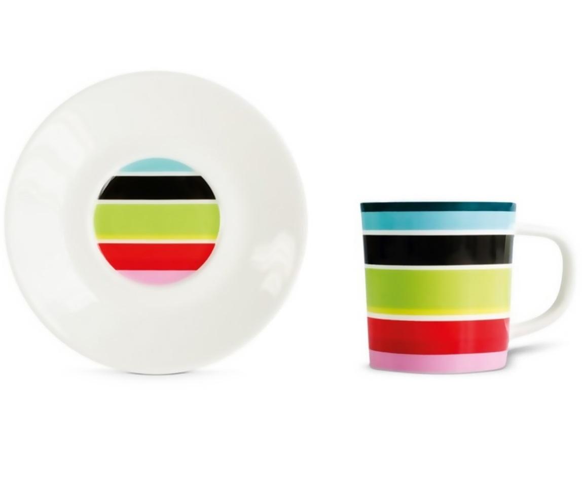 Чашка для эспрессо с блюдцем StripyЧайные пары и чашки<br>Набор из чашки для эспрессо с блюдцем в подарочной коробке. Элегантная форма и яркие цвета добавят хорошего настроения всем любителям кофе. Отличный подарок для себя или знакомых.&amp;amp;nbsp;&amp;lt;div&amp;gt;&amp;lt;br&amp;gt;&amp;lt;/div&amp;gt;&amp;lt;div&amp;gt;Объём 75 мл.&amp;lt;/div&amp;gt;<br><br>Material: Фарфор<br>Height см: 9,2<br>Diameter см: 12,2