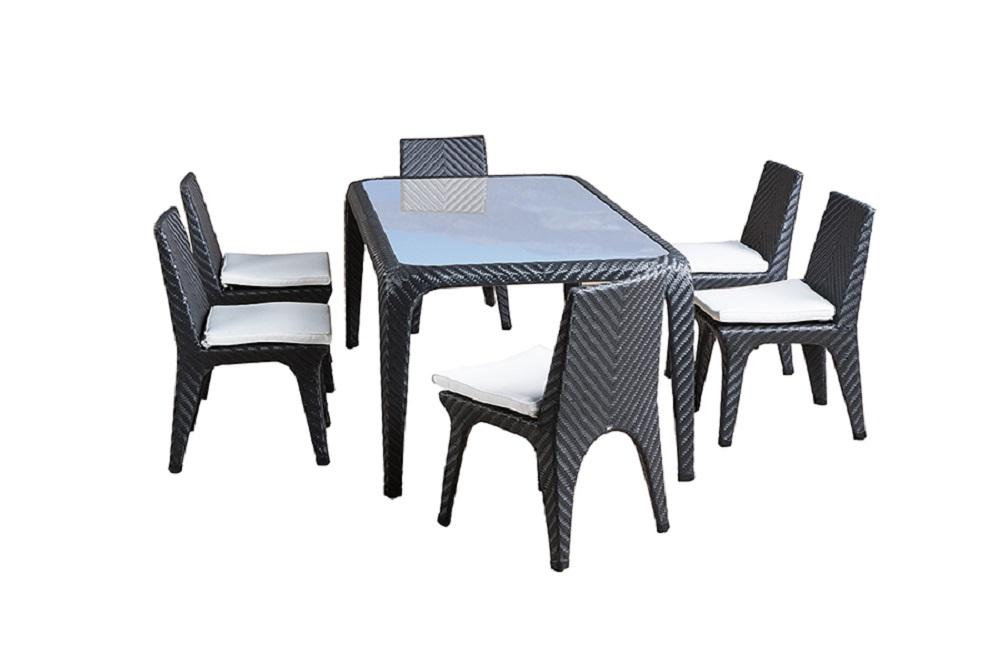 Обеденная группа БолоньяКомплекты уличной мебели<br>&amp;lt;div&amp;gt;Обеденная группа на 6 персон.&amp;amp;nbsp;&amp;lt;/div&amp;gt;&amp;lt;div&amp;gt;Стол со стеклянной столешницой толщиной 10 мм. Все стулья с подушками.&amp;amp;nbsp;&amp;lt;/div&amp;gt;&amp;lt;div&amp;gt;Материал: алюминиевый каркас, искусственный ротанг, плетение плоское.&amp;lt;/div&amp;gt;&amp;lt;div&amp;gt;&amp;lt;br&amp;gt;&amp;lt;/div&amp;gt;&amp;lt;div&amp;gt;Размеры:&amp;lt;/div&amp;gt;&amp;lt;div&amp;gt;Стол - 200х106х77 см;&amp;lt;/div&amp;gt;&amp;lt;div&amp;gt;Стул - 51х58х85 см.&amp;lt;/div&amp;gt;<br><br>Material: Ротанг<br>Length см: None<br>Width см: None<br>Height см: None