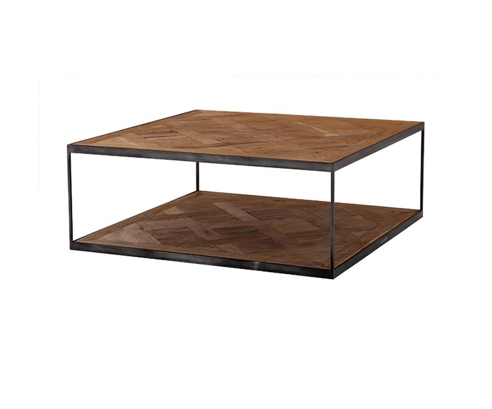 Журнальный столикЖурнальные столики<br>Журнальный столик Coffee Table Chateaudun из дуба, обработанного вручную. На ножках из цинкового металла. По своей природе, деревянные доски могут быть неравномерным, могут присутствовать трещины. Таким образом каждый элемент является уникальным.<br><br>Material: Дуб<br>Width см: 100<br>Depth см: 100<br>Height см: 38