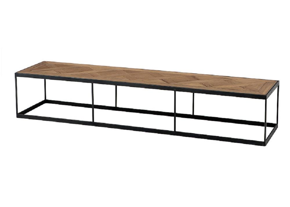Журнальный столикЖурнальные столики<br>Журнальный столик Coffee Table Chateaudun из дуба, обработанного вручную. На ножках из цинкового металла. По своей природе, деревянные доски могут быть неравномерным, могут присутствовать трещины. Таким образом каждый элемент является уникальным.<br><br>Material: Дуб<br>Ширина см: 190.0<br>Высота см: 35.0<br>Глубина см: 45.0
