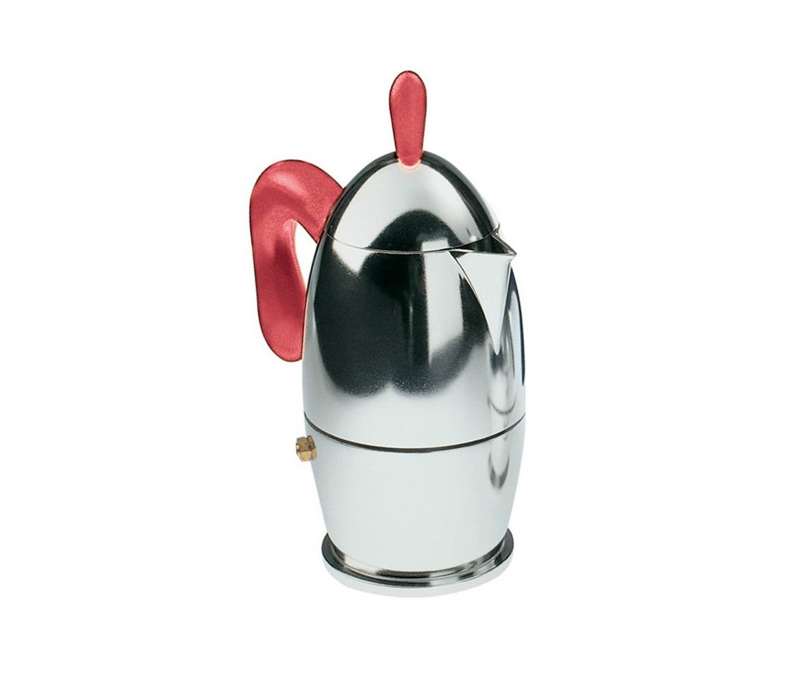 Кофеварка для эспрессо ZazaКофейники и молочники<br>Небольшая гейзерная кофеварка - это традиционный аксессуар для приготовления кофе, в котором вот уже почти столетие итальянский дизайн воплощает свои лучшие черты. Кофеварка Zaza от Guzzini предлагает еще один вариант кофейника, в котором классическая обтекаемая форма из полированного алюминия сочетается с современными материалами. Ручки из высокачественного пластика не разрушатся под воздействием высоких температур и не дадут вам обжечься. Винтажный образ кофеварки органично смотрится в современном интерьере и добавляет ему итальянского очарования. Размера большой кофеварки хватит на 6 чашек эспрессо. <br>Моется вручную.<br><br>Material: Металл<br>Width см: 15,5<br>Depth см: 10,5<br>Height см: 23