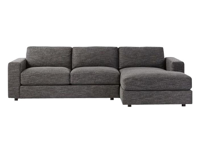 Угловой диван LumaУгловые диваны<br>Лаконичный диван для современных интерьеров. Исполнен вроде бы традиционно, но с модерновыми нотками. Тут и нестандартная текстура&amp;nbsp;ткани, и объемные формы, из которых особо выделяются подушки. И еще — довольно&amp;nbsp;приземистая посадка. Диван довольно крупный, поэтому лучше всего использовать&amp;nbsp;его, если у вас есть достаточно свободного пространства. Он задаст настроение&amp;nbsp;всей комнате.Раскладной механизм: Пума, имеется ящик для белья;Размер спального места: 150x205;Каркас: фанера, массив;Наполнение: высокоэластичный ППУ;Обивка:&amp;nbsp;мебельная ткань, устойчивая к стиранию;Опоры: массив дерева;<br><br>kit: None<br>gender: None
