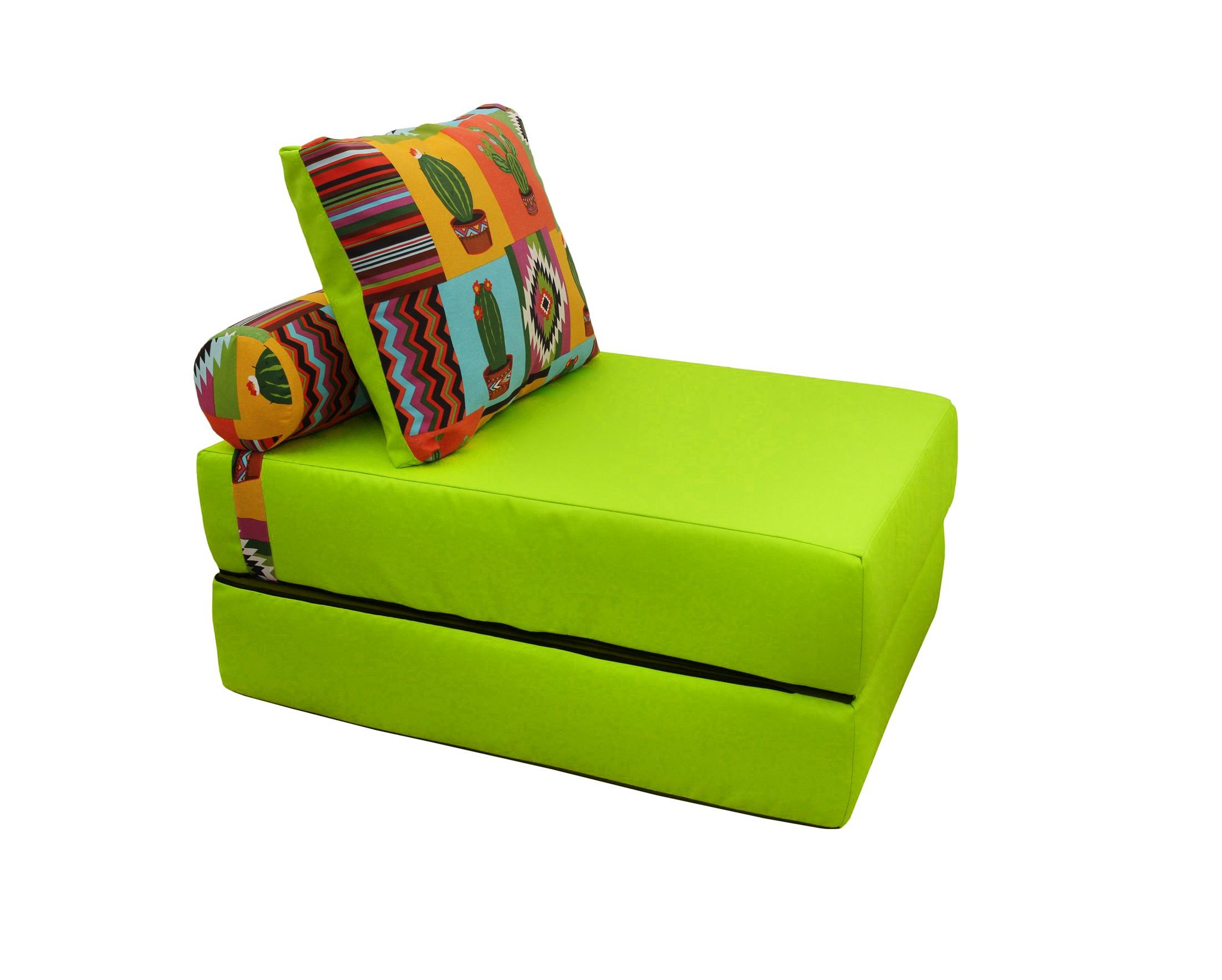 Кресло-кроватьКресла-кровати<br>&amp;lt;div&amp;gt;Если ваша душа всегда требует творчества и вы не сторонник скучных дизайнерских решений - присмотритесь к этому дивану-кровати. Он представляет собой матрас, складывающийся пополам. Съемный чехол позволит менять расцветку вашей кровати так часто, как вы сами того пожелаете, ведь в этой линейке очень много вариантов необычных и ярких орнаментов. Жесткость матраса оптимальна для полноценного сна, а компактность этого дивана позволит ему поместиться даже в небольшом помещении.&amp;lt;/div&amp;gt;&amp;lt;div&amp;gt;&amp;lt;br&amp;gt;&amp;lt;/div&amp;gt;&amp;lt;div&amp;gt;В сложенном виде: 70х40х100, в разобранном виде 70х20х200, валик d20х40, подушка 50х70 см.&amp;lt;/div&amp;gt;<br><br>Material: Текстиль<br>Ширина см: 100<br>Высота см: 40<br>Глубина см: 70