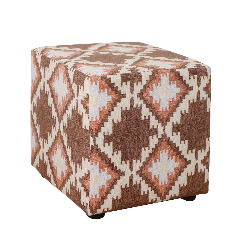 Каркасный пуфикФорменные пуфы<br>Очень устойчивый пуф на деревянной основе статнет незаменимым предметом декора или функциональной мебелью в вашем доме. А эксклюзивные ткани добавят изюминку в ваше пространство.<br><br>Material: Текстиль<br>Ширина см: 40<br>Высота см: 40<br>Глубина см: 40
