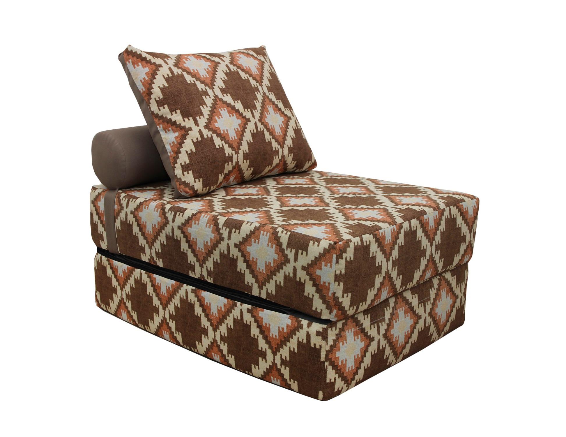 Кресло-кроватьКресла-кровати<br>Уникальное дизайнерское кресло-кровать  станет неотъемлемой частью вашего отдыха. Идеальное решение для интерьеров в стиле Лофт и небольших комнат! Съёмный чехол можно постирать в машине или заменить на новый! А его жесткость оптимальна для полноценного сна! Оригинальный дизайн и эксклюзивный принт создадут комфорт и уют в вашем доме.&amp;amp;nbsp;&amp;lt;div&amp;gt;&amp;lt;br&amp;gt;&amp;lt;/div&amp;gt;&amp;lt;div&amp;gt;В разобранном виде 70х20х200, валик d20х40, подушка 50х70 см.&amp;lt;/div&amp;gt;<br><br>Material: Текстиль<br>Length см: None<br>Width см: 100<br>Depth см: 75<br>Height см: 40