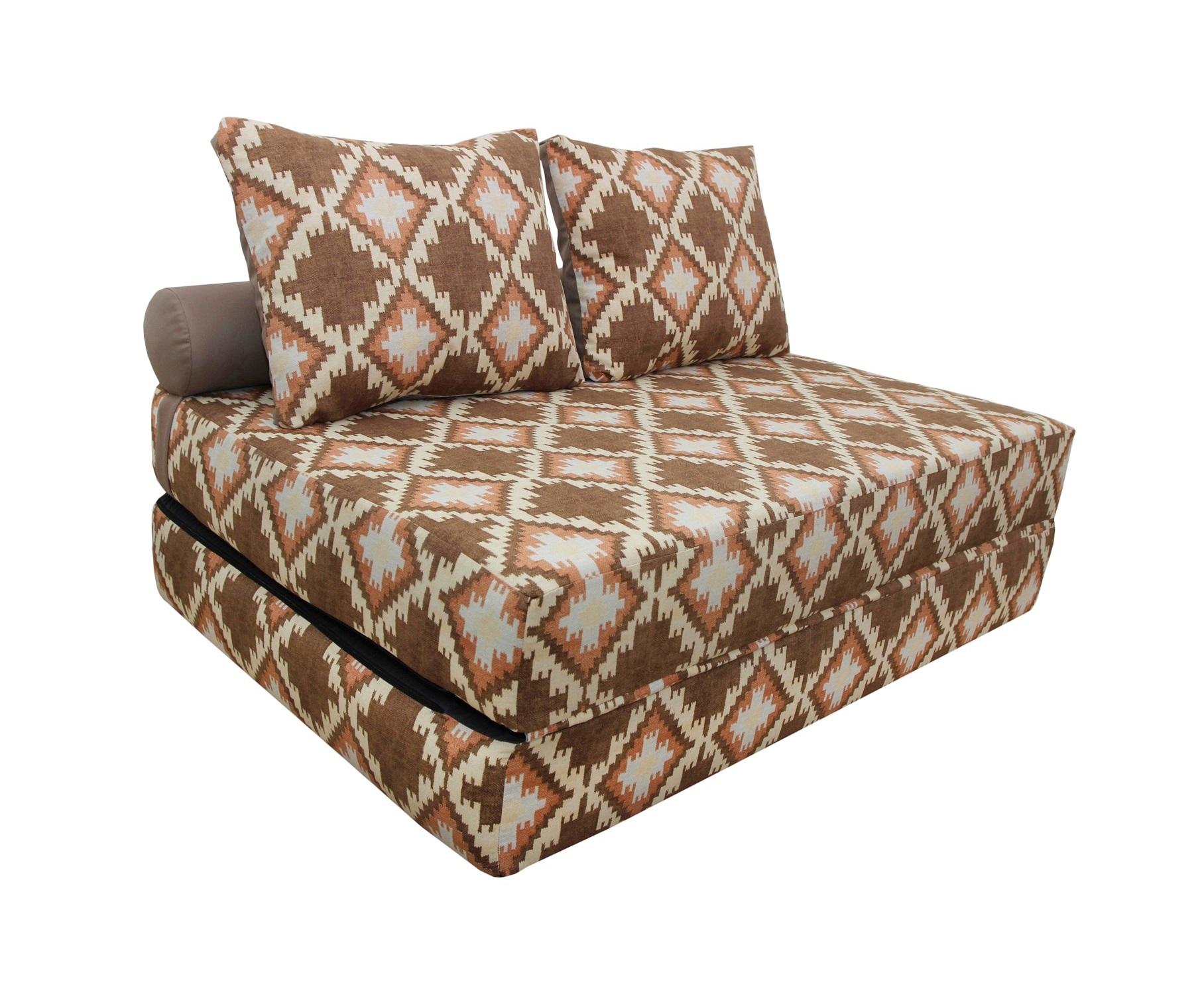 Диван-кроватьПрямые раскладные диваны<br>&amp;lt;div&amp;gt;Если ваша душа всегда требует творчества и вы не сторонник скучных дизайнерских решений - присмотритесь к этому дивану-кровати. Он представляет собой матрас, складывающийся пополам. Съемный чехол позволит менять расцветку вашей кровати так часто, как вы сами того пожелаете, ведь в этой линейке очень много вариантов необычных и ярких орнаментов. Жесткость матраса оптимальна для полноценного сна, а компактность этого дивана позволит ему поместиться даже в небольшом помещении.&amp;lt;/div&amp;gt;&amp;lt;div&amp;gt;&amp;lt;br&amp;gt;&amp;lt;/div&amp;gt;&amp;lt;div&amp;gt;В разобранном виде 140х20х200, валик d20х140, 2 подушки 50х70 см.&amp;lt;/div&amp;gt;<br><br>Material: Текстиль<br>Length см: None<br>Width см: 140<br>Depth см: 100<br>Height см: 40