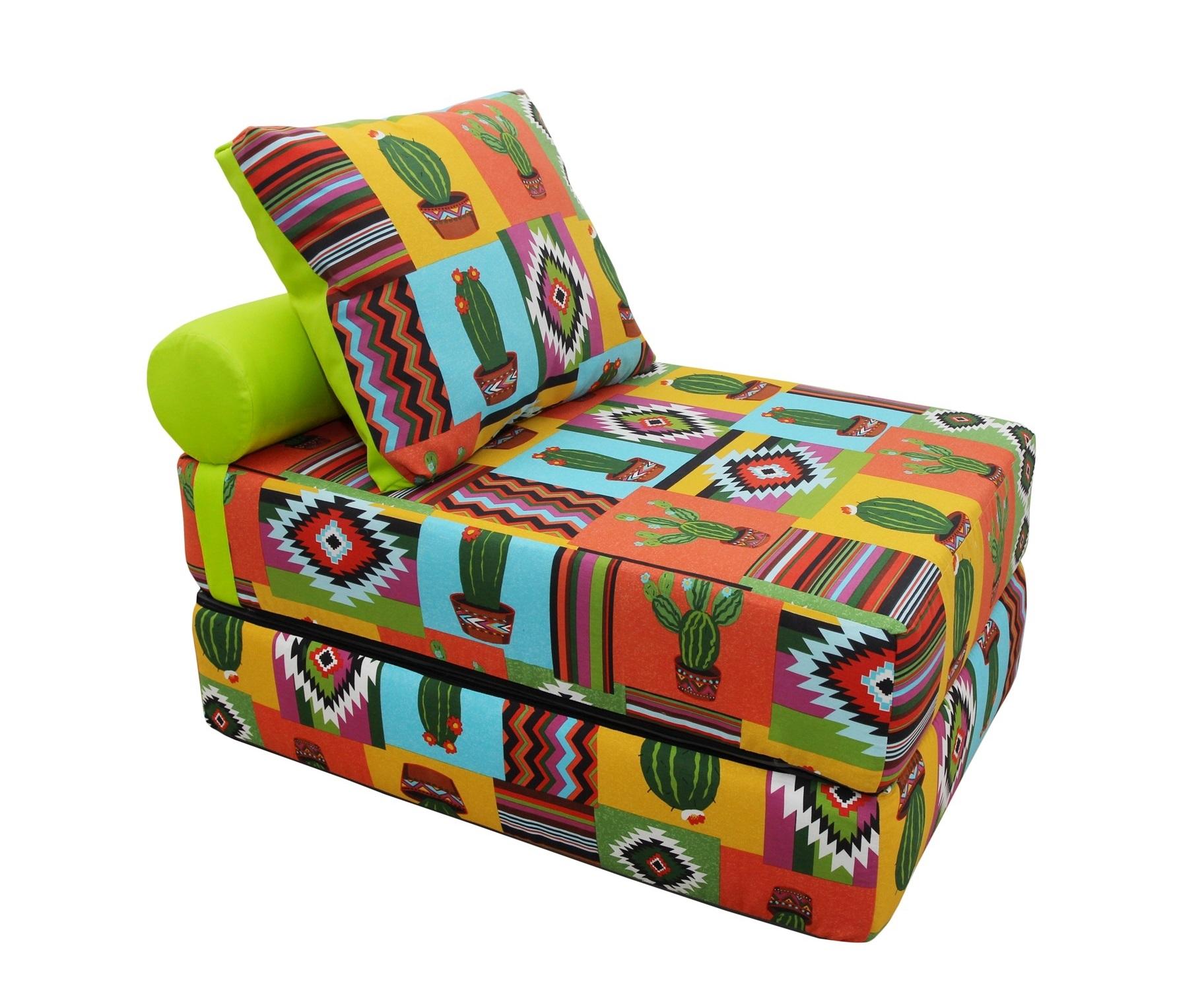 Кресло-кроватьКресла-кровати<br>&amp;lt;div&amp;gt;Если ваша душа всегда требует творчества и вы не сторонник скучных дизайнерских решений - присмотритесь к этому дивану-кровати. Он представляет собой матрас, складывающийся пополам. Съемный чехол позволит менять расцветку вашей кровати так часто, как вы сами того пожелаете, ведь в этой линейке очень много вариантов необычных и ярких орнаментов. Жесткость матраса оптимальна для полноценного сна, а компактность этого дивана позволит ему поместиться даже в небольшом помещении.&amp;lt;/div&amp;gt;&amp;lt;div&amp;gt;&amp;lt;br&amp;gt;&amp;lt;/div&amp;gt;&amp;lt;div&amp;gt;В сложенном виде: 70х40х100, в разобранном виде 70х20х200, валик d20х40, подушка 50х70 см.&amp;lt;/div&amp;gt;<br><br>Material: Текстиль<br>Length см: None<br>Width см: 100<br>Depth см: 70<br>Height см: 40