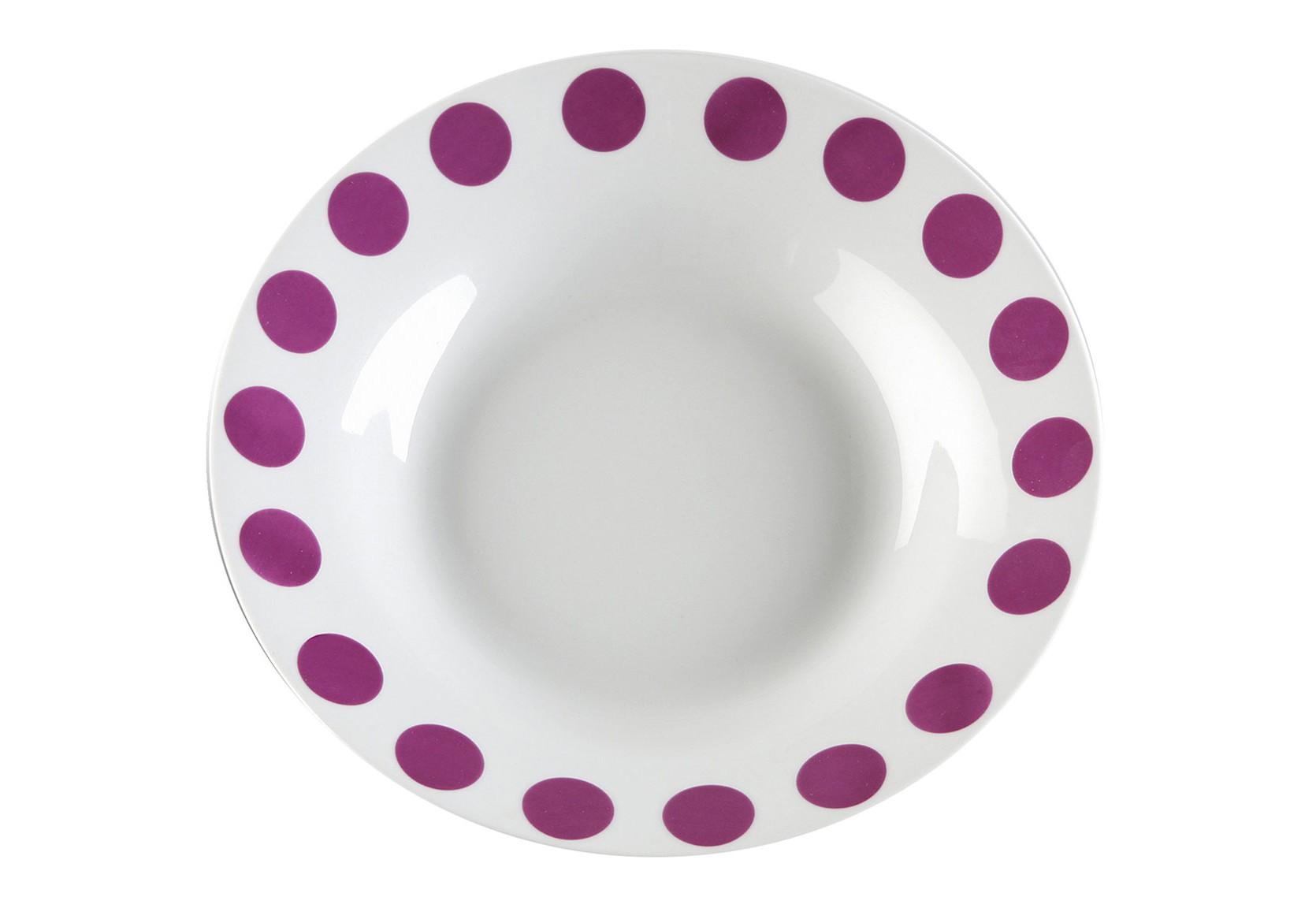 Набор из глубоких тарелок (6шт)Тарелки<br><br><br>Material: Фарфор<br>Length см: 23<br>Width см: 23<br>Height см: 4