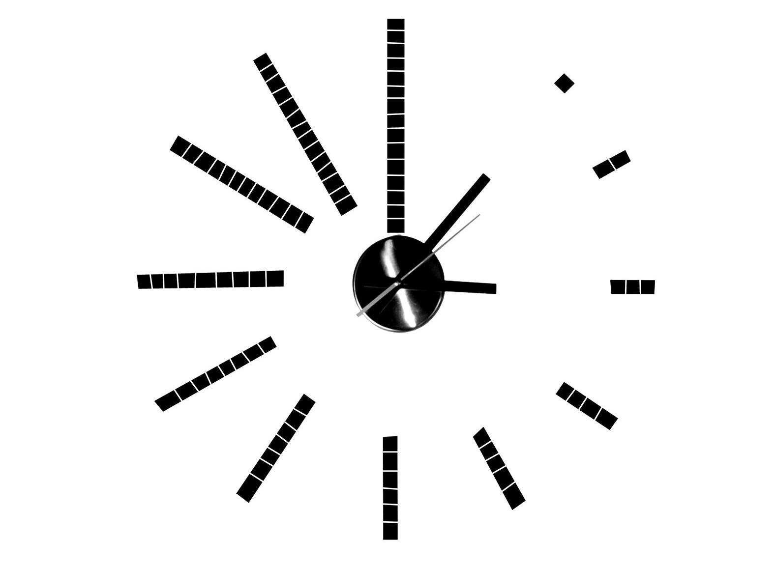 Часы STICKERНастенные часы<br>кварцевый механизм<br><br>Material: Пластик<br>Length см: None<br>Width см: 25<br>Depth см: 5<br>Height см: 25