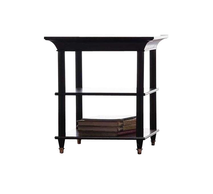 столик MestreПриставные столики<br>Небольшой приставной столик из красного дерева весьма универсален: благодаря классическому дизайну и компактному размеру его можно поставить в гостиной, спальне, прихожей. Столик оснащен тремя полочками, ножки украшены металлическими наконечниками золотого цвета.<br><br>Цвет отделки: красное дерево.<br><br>Material: Дерево<br>Length см: 74<br>Width см: 60<br>Height см: 66