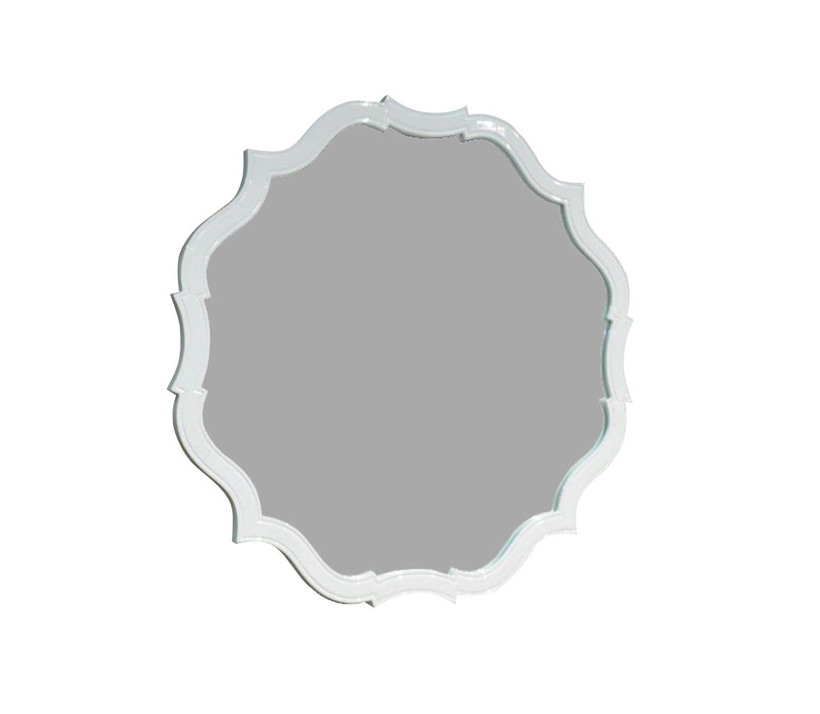 Зеркало RiminiНастенные зеркала<br>&amp;quot;Rimini&amp;quot; ? зеркало, сочетающее в своем оформлении роскошь и интимность, лаконичность и эффектность, простоту и оригинальность. Сложность пропорций интересной рамы становится удивительно ясной и понятной при ближайшем рассмотрении. В изломах ее плавных граней кроется очарование аристократичной сдержанности. Она находит продолжение и в аскетичной отделке, выраженной в чистоте и нежности кремового белого оттенка. Натуральная древесина, преображенная глянцем, позволяет декору смотреться гламурно и аскетично одновременно, делая его отменным дополнением для любых французских интерьеров.<br><br>Material: Стекло<br>Length см: 86<br>Width см: 86<br>Depth см: 3