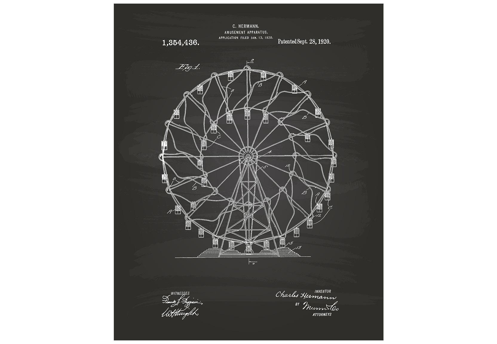 Постер Amusement Apparatus 1920Постеры<br><br><br>Material: Холст<br>Length см: None<br>Width см: 40<br>Depth см: 6<br>Height см: 60