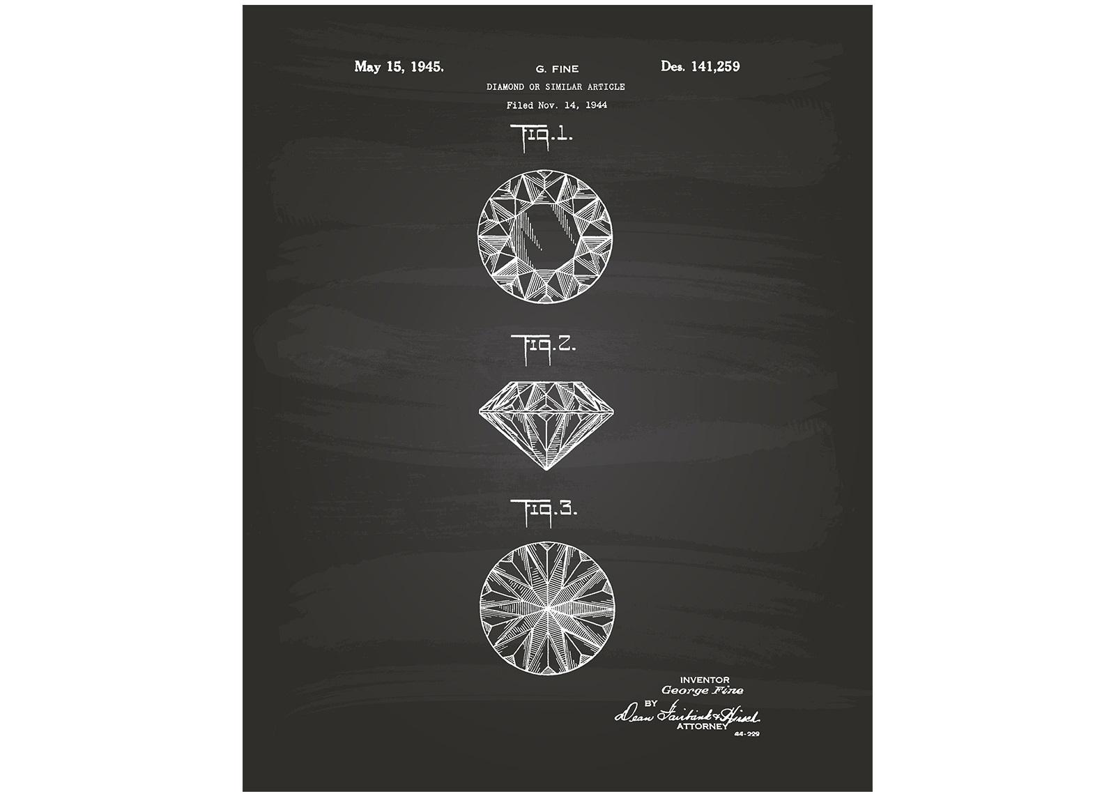 Постер Diamond 1944Постеры<br><br><br>Material: Холст<br>Length см: None<br>Width см: 40<br>Depth см: 6<br>Height см: 60