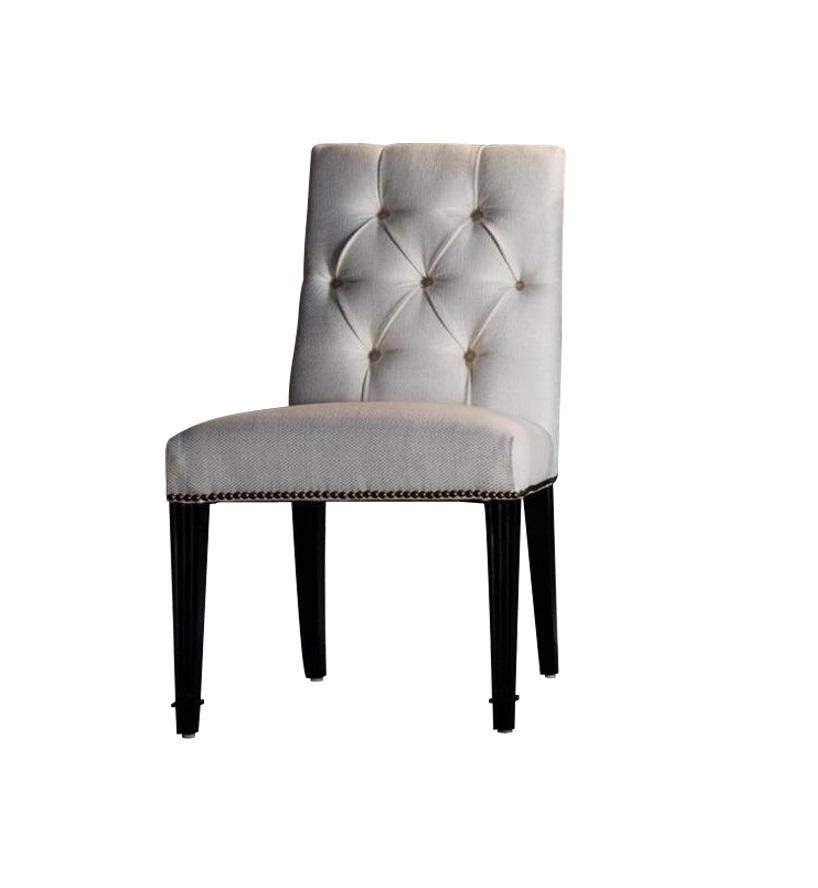 Стул MESTREОбеденные стулья<br>&amp;lt;div&amp;gt;Обеденный стул &amp;quot;Mestre&amp;quot; обладает вневременной элегантностью. Предмет следует эстетике классического силуэта американской мебели: правильные пропорции, мягкая обивка пыльно-серого цвета, контрастные темные ножки и каретная стяжка, украшающая спинку... Все это смотрится дорого и презентабельно.&amp;lt;/div&amp;gt;&amp;lt;div&amp;gt;&amp;lt;span style=&amp;quot;line-height: 1.78571429;&amp;quot;&amp;gt;&amp;lt;br&amp;gt;&amp;lt;/span&amp;gt;&amp;lt;/div&amp;gt;&amp;lt;div&amp;gt;&amp;lt;span style=&amp;quot;line-height: 1.78571429;&amp;quot;&amp;gt;Ножки в отделке шпон махагона. Спинка обита тканью со стежкой капитоне, спинка сзади и сиденье снизу декорированы гвоздиками. Каркас сделан из массива дерева.&amp;lt;/span&amp;gt;&amp;lt;/div&amp;gt;<br><br>Material: Текстиль<br>Length см: 52<br>Width см: 67<br>Height см: 87.8