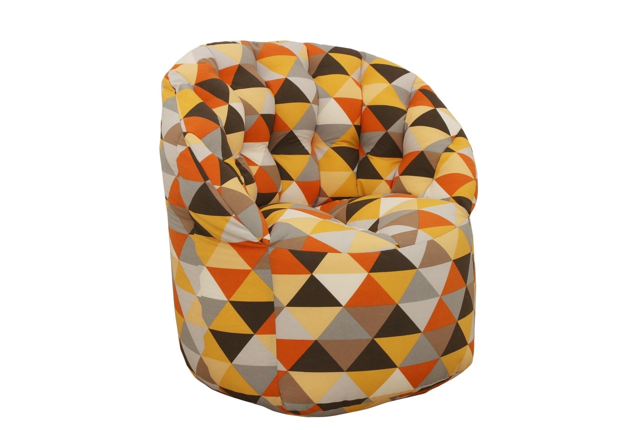Кресло- пуфКресла-мешки<br>Комфортное кресло-пуф станет неотьемлемой частью вашего дома. Спинка кресла держит форму и обеспечивает круговую поддержку для спины за счет особой системы пошива. Кресло имеет 2 независимых отсека для наполнителя. Эксклюзивная   ткань разбавит ваш интерьер яркими красками.<br><br>Material: Текстиль<br>Length см: None<br>Width см: 85<br>Depth см: 85<br>Height см: 91