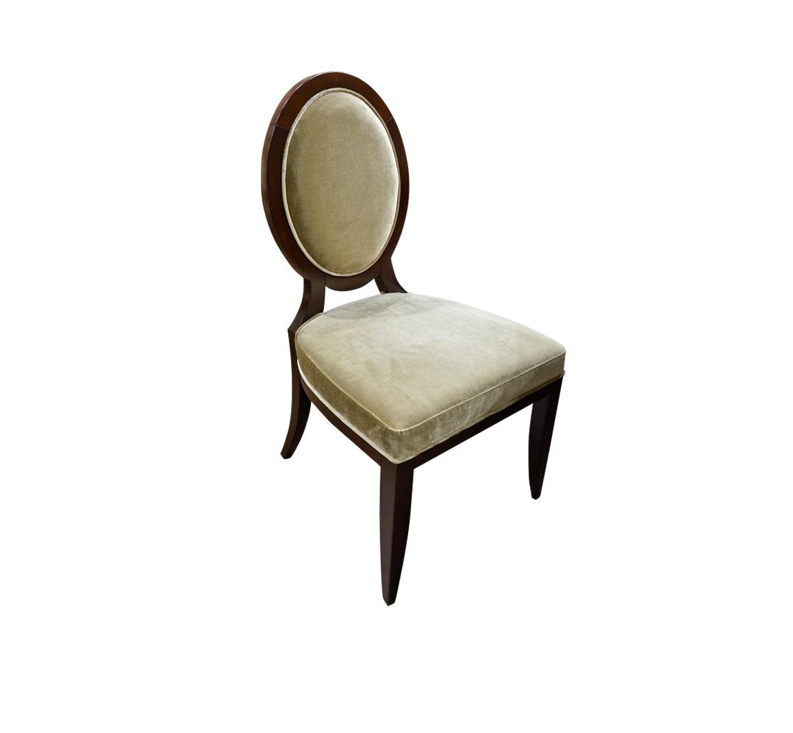 Стул MODENAОбеденные стулья<br>Стул с медальонной спинкой выполнен в стиле неоклассика.<br>Высота сиденья 48.5 см.<br><br>Material: Дерево<br>Width см: 51,5<br>Depth см: 64,5<br>Height см: 91