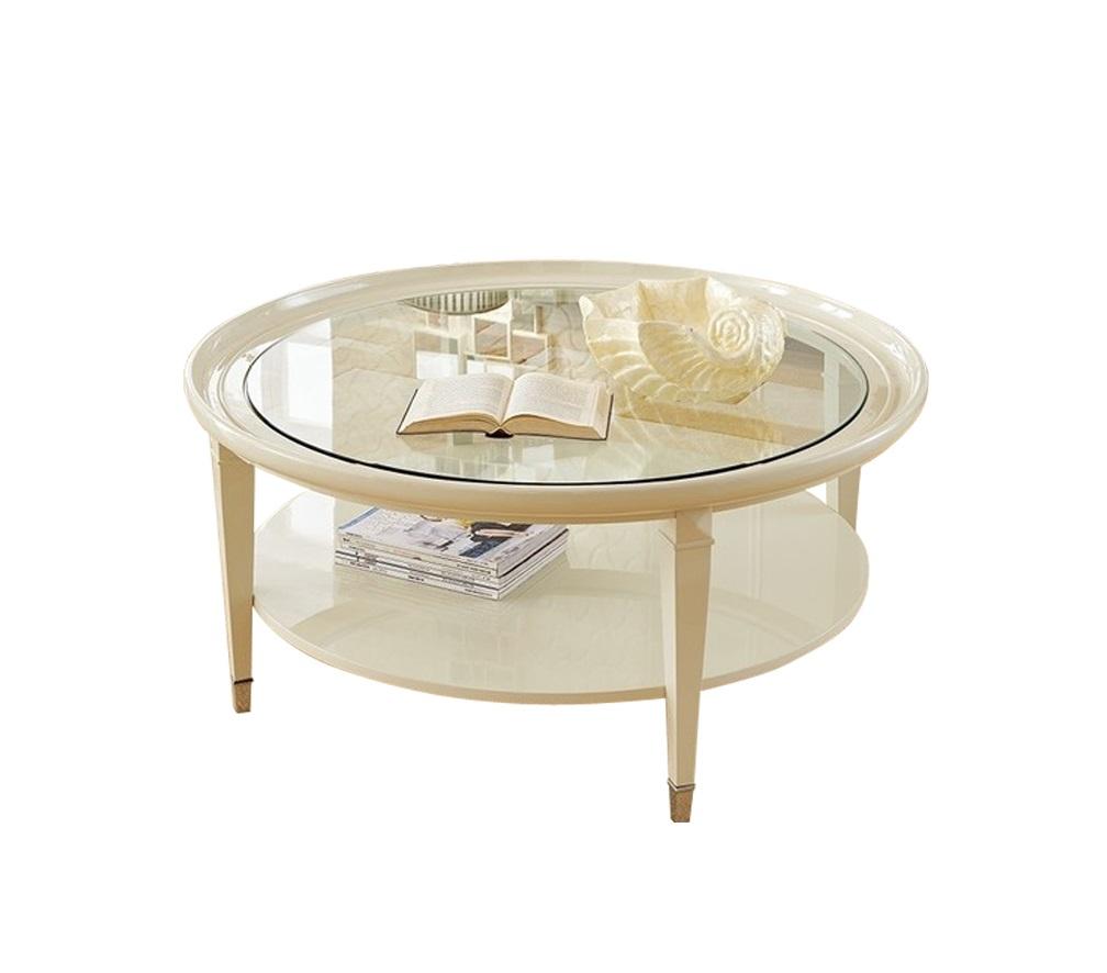 Журнальный стол MODENAЖурнальные столики<br>Журнальный стол выполнен в стиле неоклассика.<br><br>Material: Стекло<br>Height см: 50<br>Diameter см: 110