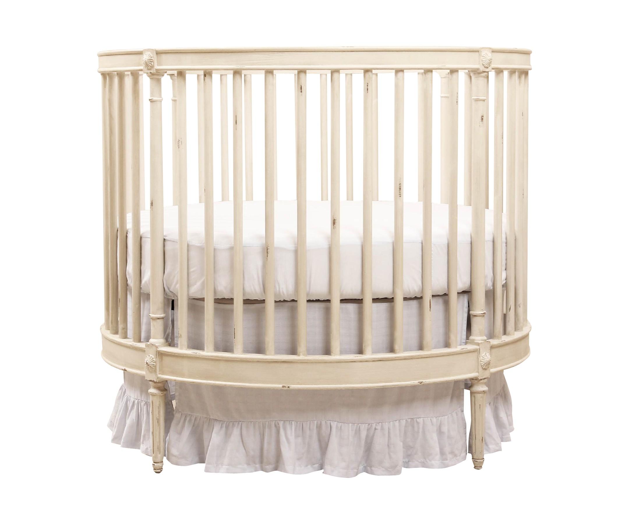Кровать детская Venecia с матрасомКолыбели<br>Детская кровать, в комплект входит детский матрасик размером 100*100*140 см.<br><br>Material: Береза<br>Height см: 97,5<br>Diameter см: 107