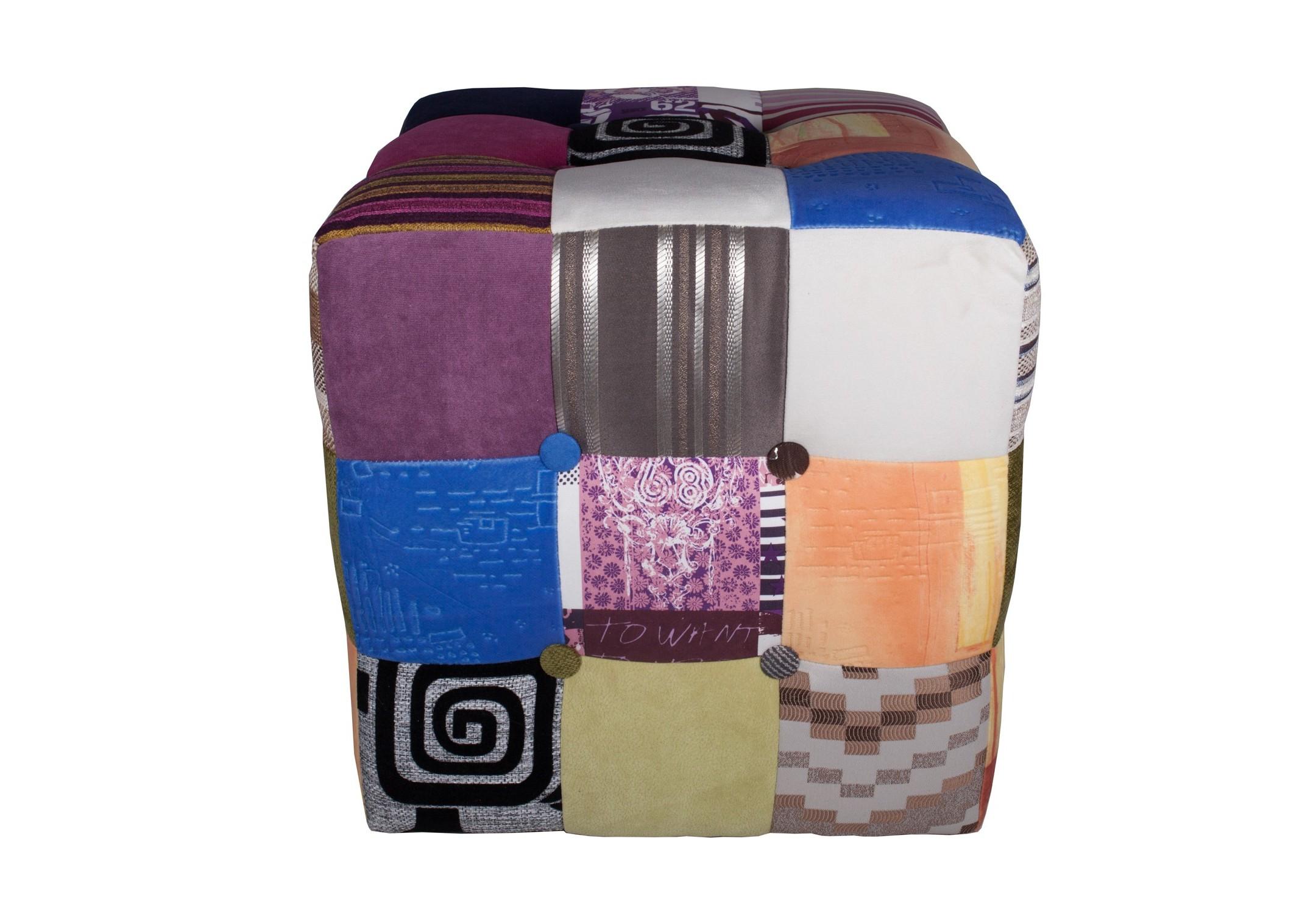 Пуф Patchwork ColorsФорменные пуфы<br><br><br>Material: Текстиль<br>Width см: 41<br>Depth см: 41<br>Height см: 43