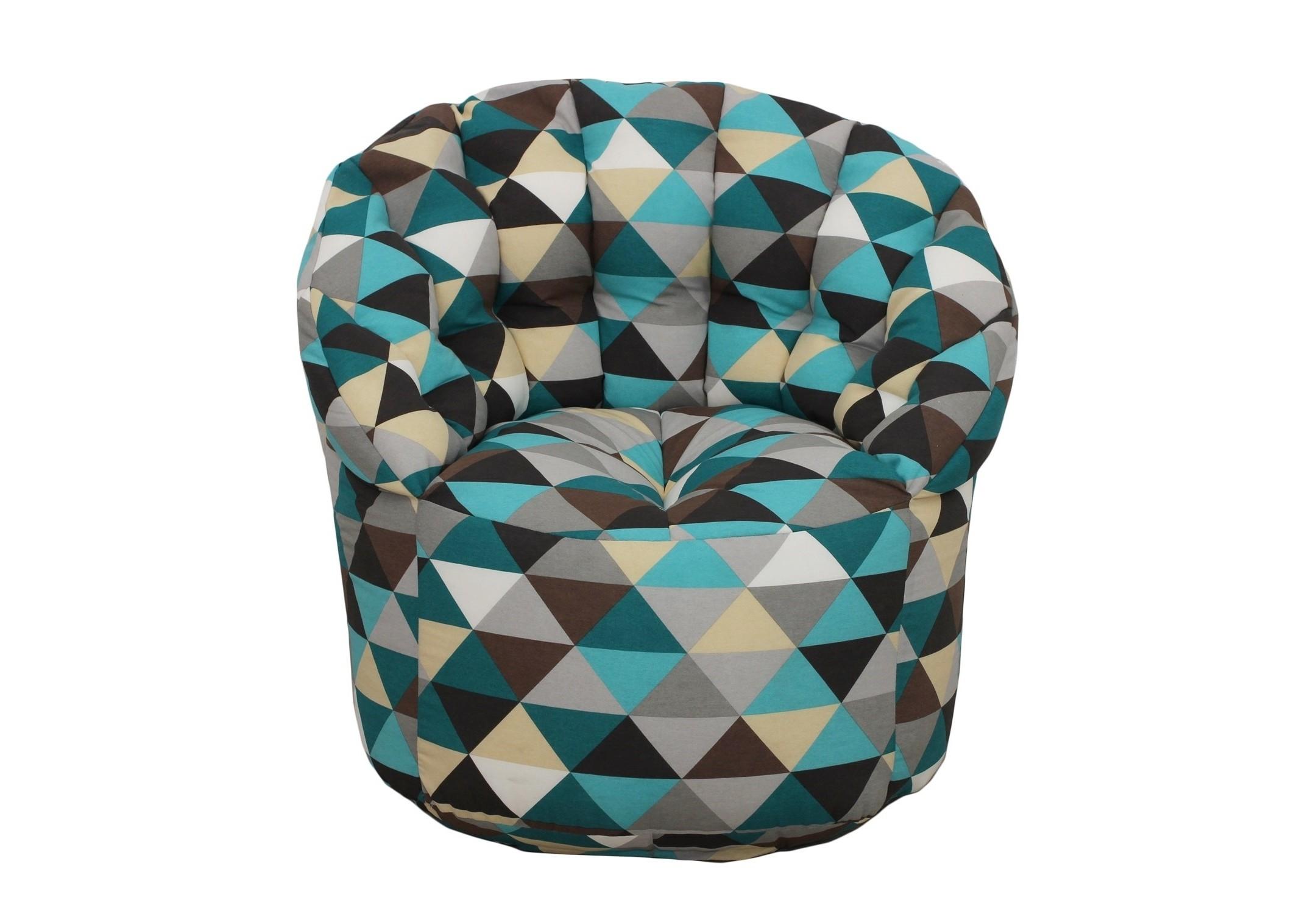 Кресло-пуфКресла-мешки<br>Комфортное кресло-пуф станет неотьемлемой частью вашего дома. Спинка кресла держит форму и обеспечивает круговую поддержку для спины за счет особой системы пошива. Кресло имеет 2 независимых отсека для наполнителя. Эксклюзивная   ткань разбавит ваш интерьер яркими красками.<br><br>Material: Текстиль<br>Length см: None<br>Width см: 85<br>Depth см: 85<br>Height см: 91