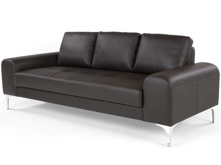 Диван vitto brown leather (ml) черный 210x81x92 см.