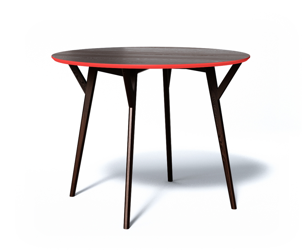 Обеденный стол CIRCLEОбеденные столы<br>Круглый стол для теплой компании Circle легкий и одновременно прочный. Ножки крепятся к столешнице при помощи дополнительный опор для лучшей устойчивости. С торцевой части крышка декорирована яркой красно-оранжевой фаской - любимым украшением мебели The Idea.<br>Срок изготовления 10 рабочих дней.<br><br>Material: Дерево<br>Высота см: 75