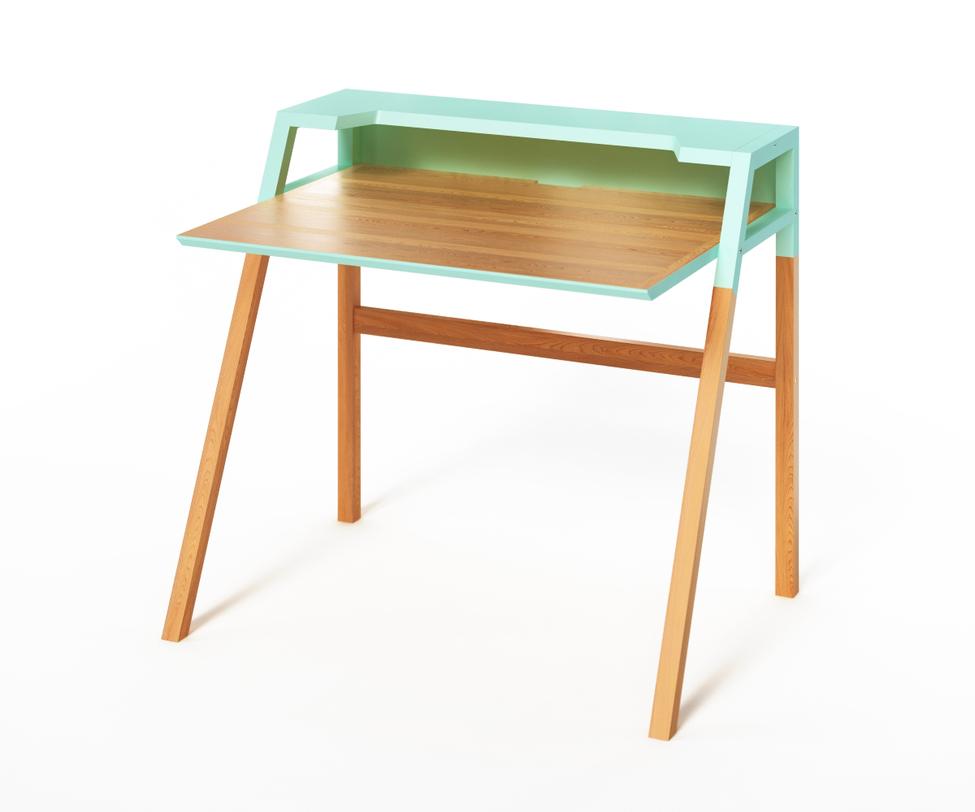 Компьютерный стол YOUKПисьменные столы<br>Компьютерный стол&amp;amp;nbsp;&amp;lt;span lang=&amp;quot;EN-US&amp;quot;&amp;gt;YOUK&amp;lt;/span&amp;gt;&amp;amp;nbsp;спроектирован в лучших традициях скандинавского дизайна. В нем уживается простота и функциональность. Оригинальность выражается в контрастном оформлении верхней и нижней частей. Энергичный небесно-голубой цвет добавит яркость скромным формам столика и зарядит рабочим настроением.<br><br>Material: Дерево<br>Ширина см: 70<br>Высота см: 88<br>Глубина см: 90