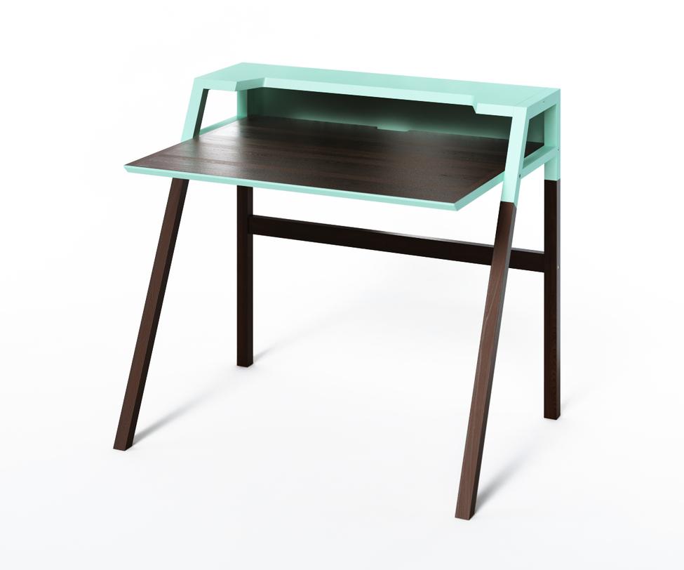 Компьютерный стол YOUKПисьменные столы<br>Эффектный столик из коллекции &amp;quot;Idea&amp;quot; воплощает в себе тренды минимализма и практичности. &amp;amp;nbsp;За эргономику места отвечает оптимальная высота корпуса и широкая рабочая поверхность. За стильный дизайн - динамичное сочетание темного дерева я ярко-голубая отделка верха.<br><br>Material: Дерево<br>Ширина см: 70<br>Высота см: 88<br>Глубина см: 90