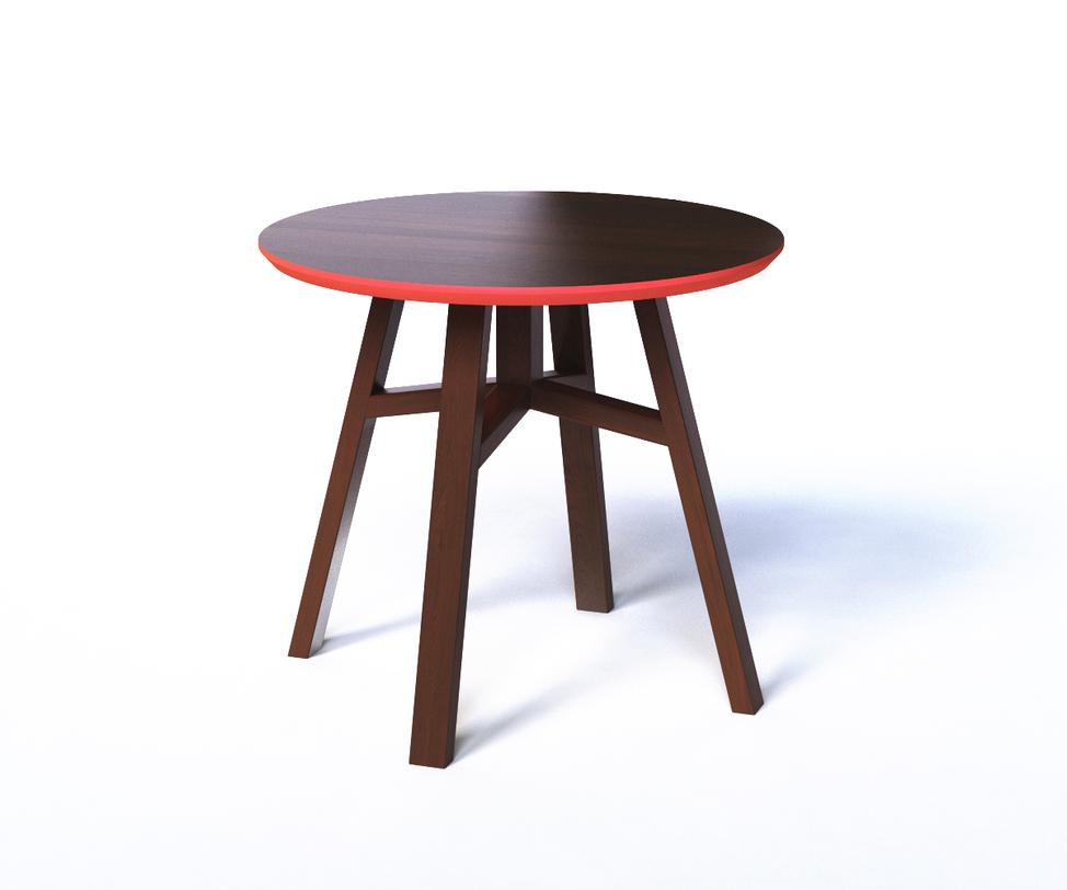 Журнальный стол MACKЖурнальные столики<br>Это столик внешне очень похож на табурет, что делает его легким и компактным предметом мебели. Он выглядит экспрессивно за счет яркой отделки. Кромка и низ столешницы выкрашены в ярко-красный цвет. Такое сочетание открывает поле для экспериментов с внешним декором.<br><br>Material: Дерево<br>Length см: None<br>Width см: None<br>Depth см: None<br>Height см: 50<br>Diameter см: 55
