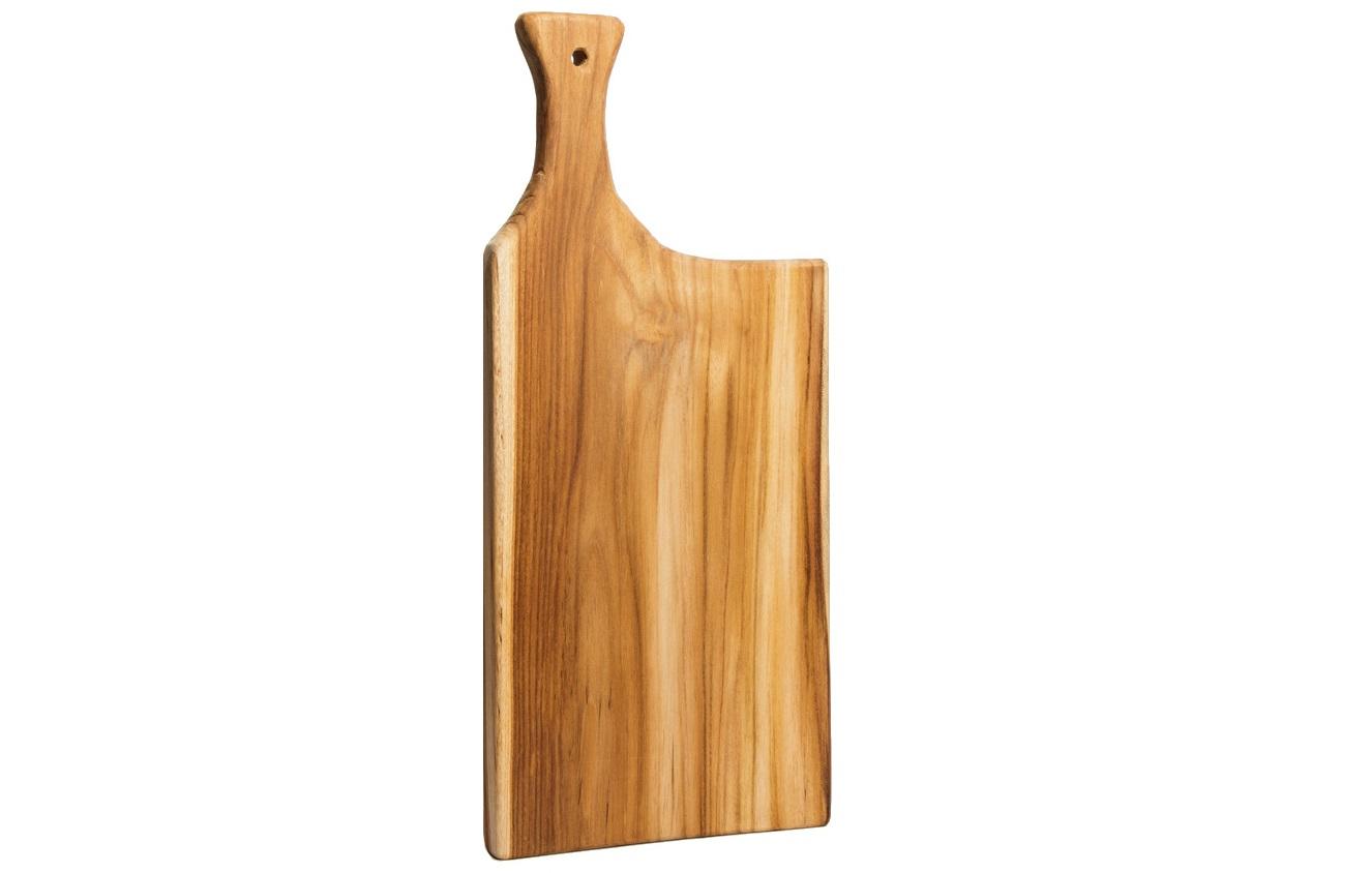 Доска разделочная TasteПодставки и доски<br>Разделочная доска ручной работы из Индонезии. Яркий и оригинальный рисунок дерева в сочетании с удобной рабочей поверхностью.<br><br>Material: Тик<br>Length см: 0<br>Width см: 22<br>Depth см: 3<br>Height см: 47<br>Diameter см: 0