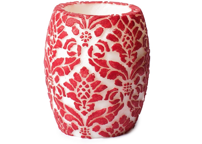 све-ча-damask-pineapple-red