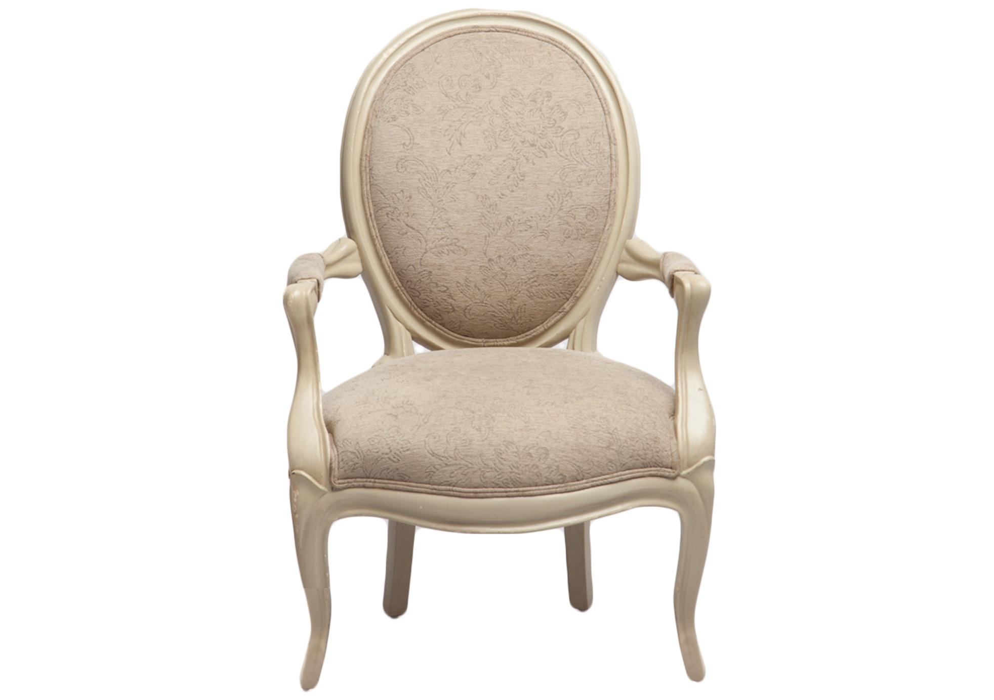 Кресло ФилиппСтулья с подлокотниками<br>Кресло с круглой спинкой-медальон, украшено патиной и старением. Обивка с растительным узором.&amp;lt;div&amp;gt;&amp;lt;br&amp;gt;&amp;lt;/div&amp;gt;&amp;lt;div&amp;gt;Материал: махагони&amp;lt;br&amp;gt;&amp;lt;/div&amp;gt;<br><br>Material: Текстиль<br>Width см: 70<br>Depth см: 66<br>Height см: 92