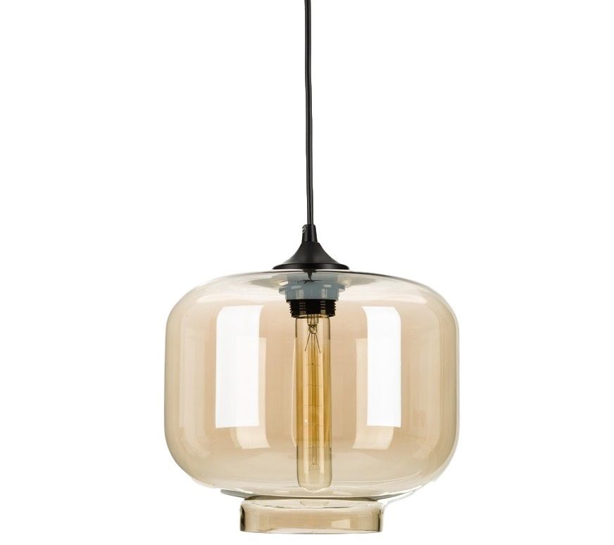 Подвесной светильникПодвесные светильники<br>Металлическое основание, декоративный стеклянный плафон, мягкий подвес-провод черного цвета<br>Цвет стекла прозрачный коричневый<br>Основание D = 12см, провод L = 150 см<br>Патрон E27, мощность max 1 х 60W&amp;amp;nbsp;&amp;lt;div&amp;gt;&amp;lt;br&amp;gt;&amp;lt;/div&amp;gt;&amp;lt;div&amp;gt;Лампа в комплект не входит&amp;lt;/div&amp;gt;<br><br>Material: Стекло<br>Высота см: 20