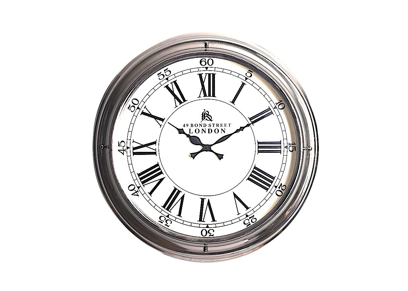 Часы настенныеНастенные часы<br>Круглые настенные металлические часы в классическом стиле.<br><br>Material: Металл<br>Depth см: 14<br>Height см: None<br>Diameter см: 45