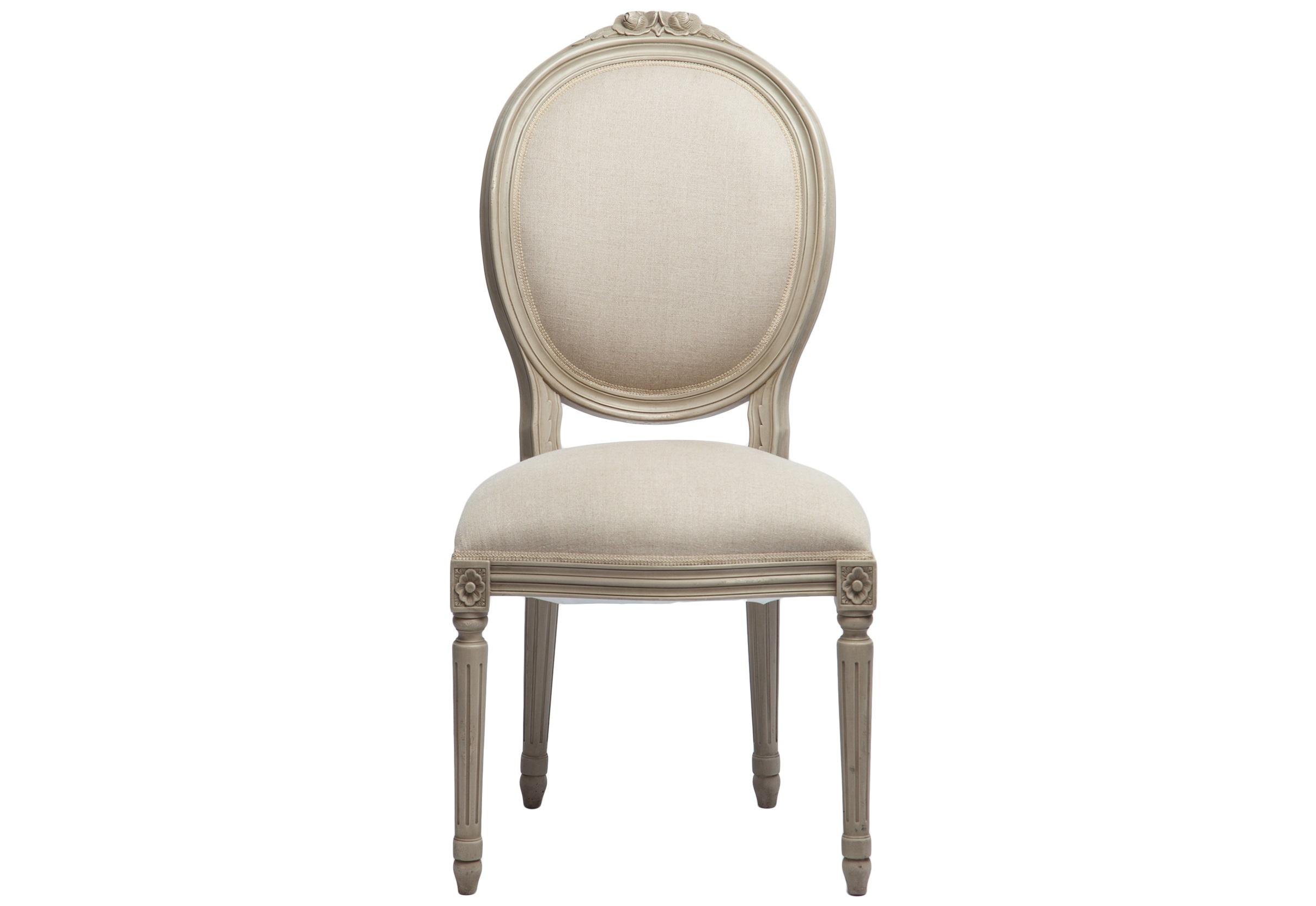 Стул PortofinoОбеденные стулья<br>Стул обеденный с мягкой спинкой-медальон, однотонная обивка.<br><br>Material: Красное дерево<br>Width см: 63<br>Depth см: 53<br>Height см: 107