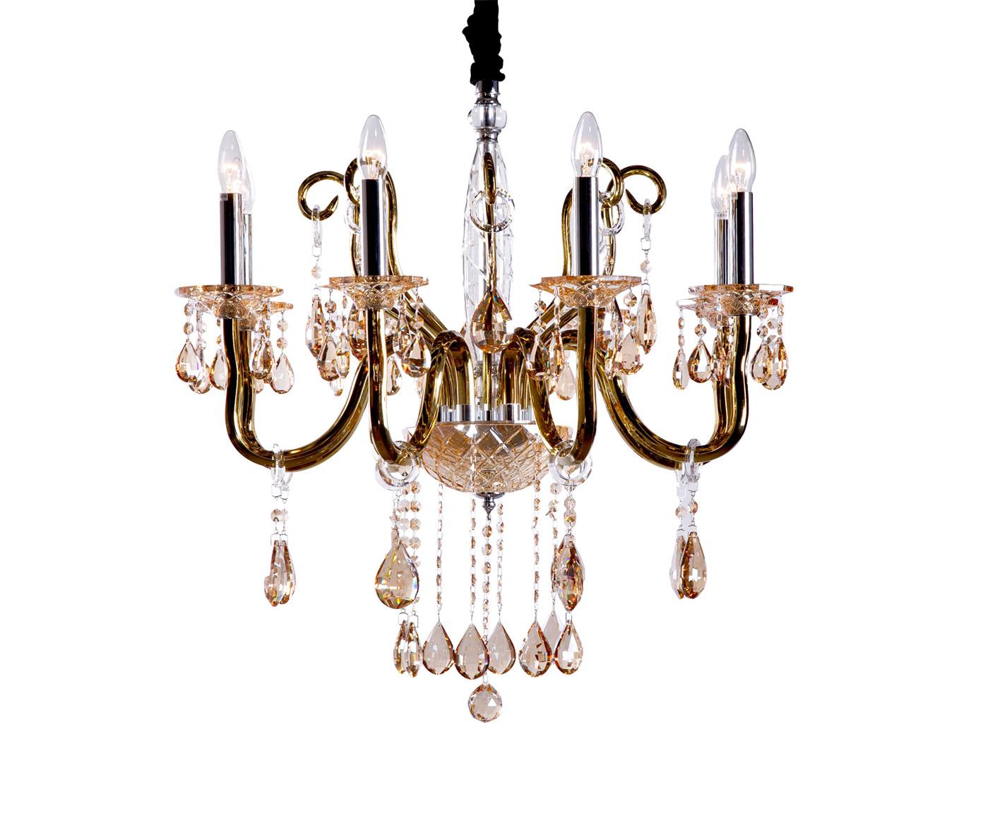 Люстра ДоминикаЛюстры подвесные<br>&amp;lt;div&amp;gt;Роскошная люстра в классическом стиле Доминика придаст вашему интерьеру солидность и перенесет в эпоху балов и приемов в частных особняках. Люстра выполнена в золотом цвете и позволяет использовать до шести лампочек одновременно. Рекомендуется использовать лампы в форме свечей.&amp;lt;/div&amp;gt;&amp;lt;div&amp;gt;&amp;lt;br&amp;gt;&amp;lt;/div&amp;gt;&amp;lt;div&amp;gt;Вид цоколя: E14&amp;lt;/div&amp;gt;&amp;lt;div&amp;gt;Мощность лампы: 40W&amp;lt;/div&amp;gt;&amp;lt;div&amp;gt;Количество ламп: 8 (нет в комплекте)&amp;lt;/div&amp;gt;&amp;lt;div&amp;gt;&amp;lt;br&amp;gt;&amp;lt;/div&amp;gt;&amp;lt;div&amp;gt;Материал: металл, стекло.&amp;lt;/div&amp;gt;<br><br>Material: Стекло<br>Width см: 77<br>Depth см: 77<br>Height см: 68