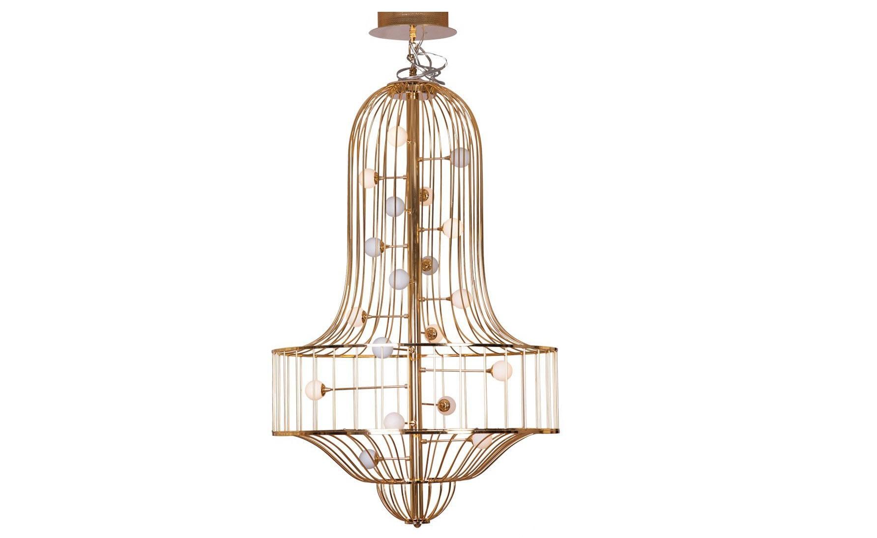 Подвесной светильник ЛуиджиПодвесные светильники<br>Подвесной светильник Луиджи вызывает удивление и восторг с первого взгляда. Роскошная люстра выполнена из металла и стекла, и это сочетание материалов делает ее современной и очень стильной. Внешний облик подвеса и его эффектное свечение наполняет интерьер волшебной и уютной атмосферой. Излучаемый свет, подобно музыке, очаровывает и успокаивает. А форма подвеса вызывает в воображении подобие музыкального ритма с его гармоничной завершенностью.<br><br>Оцените преображение Вашего интерьера с появлением необычного стильного света. Дизайнерская люстра имеет интересный облик и наверняка будет по достоинству оценена любителями современного освещения. Грациозное творение не только приковывает к себе взгляды, но и удивляет своей функциональностью.&amp;lt;div&amp;gt;&amp;lt;br&amp;gt;&amp;lt;/div&amp;gt;&amp;lt;div&amp;gt;Вид цоколя: G4&amp;lt;div&amp;gt;Мощность лампы: 20W&amp;lt;/div&amp;gt;&amp;lt;div&amp;gt;Количество ламп: 19&amp;lt;/div&amp;gt;&amp;lt;/div&amp;gt;<br><br>Material: Металл<br>Width см: None<br>Depth см: None<br>Height см: 135<br>Diameter см: 70