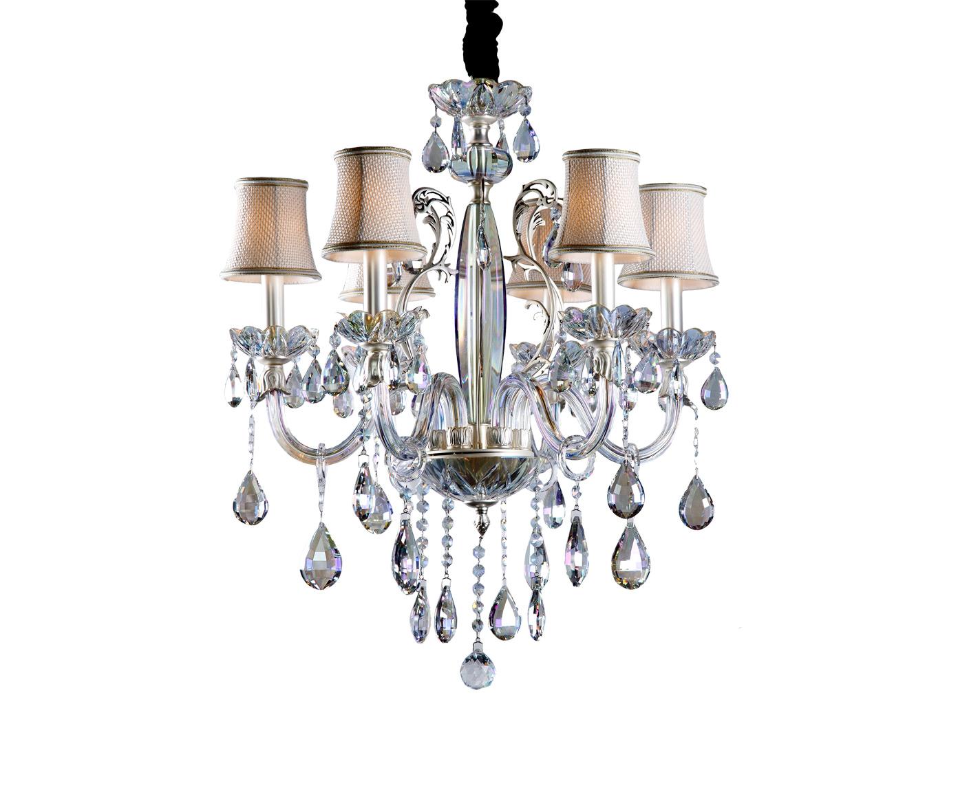 Люстра ГлансЛюстры подвесные<br>&amp;lt;div&amp;gt;Люстра в классическом стиле изготовленная из стекла и метала отлично впишется в интерьер вашего дома. Абажуры над лампами создавались с учетом правил рассеивания света и удивят вас мягким и комфортным освещением. Цвет матового серебра придает люстре дополнительный шарм и солидность.&amp;lt;/div&amp;gt;&amp;lt;div&amp;gt;&amp;lt;br&amp;gt;&amp;lt;/div&amp;gt;&amp;lt;div&amp;gt;Вид цоколя: E14&amp;lt;/div&amp;gt;&amp;lt;div&amp;gt;Мощность лампы: 40W&amp;lt;/div&amp;gt;&amp;lt;div&amp;gt;Количество ламп: 6 (нет в комплекте)&amp;lt;/div&amp;gt;&amp;lt;div&amp;gt;&amp;lt;br&amp;gt;&amp;lt;/div&amp;gt;&amp;lt;div&amp;gt;Материал: металл, стекло, текстиль.&amp;lt;/div&amp;gt;<br><br>Material: Металл<br>Width см: 58<br>Depth см: 58<br>Height см: 64