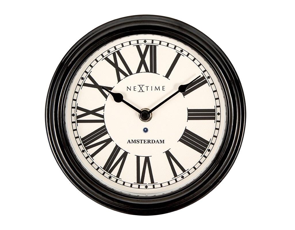 Настенные часы AMSTERDAMНастенные часы<br>кварцевый механизм<br><br>Material: Металл<br>Diameter см: 21