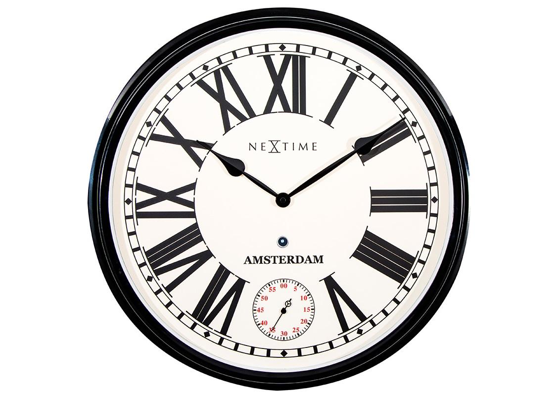 Настенные часы AMSTERDAMНастенные часы<br>кварцевый механизм<br><br>Material: Металл<br>Diameter см: 51
