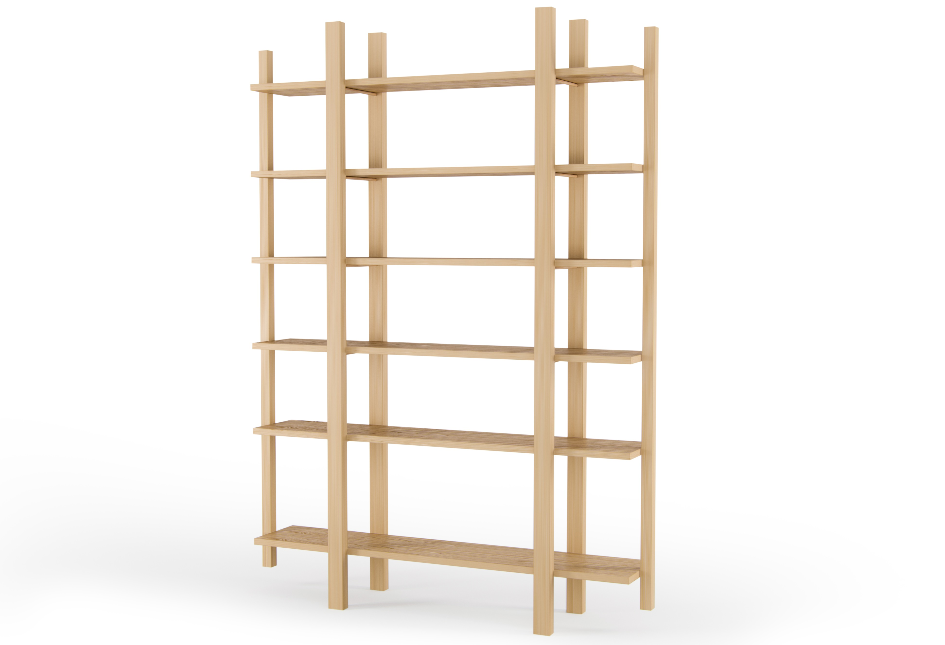 СтеллажСтеллажи и этажерки<br>Дизайн стеллажа неразрывно связан с общей концепцией мебели Woodi: функциональность, качество и простота скандинавского дизайна. Стеллаж многовариантного использования для хранения книг, альбомов, декора и ценных мелочей. Стеллаж может использоваться как дома в гостиной или прихожей , так и в офисах, барах и ресторанах, и везде, где необходимо необычное и современное решение для хранения полезных мелочей. Собирается самостоятельно без использования инструментов. Материал: Массив дуба, МДФ, шпон дуба, лак<br><br>Material: Дерево<br>Width см: 150<br>Depth см: 28<br>Height см: 215