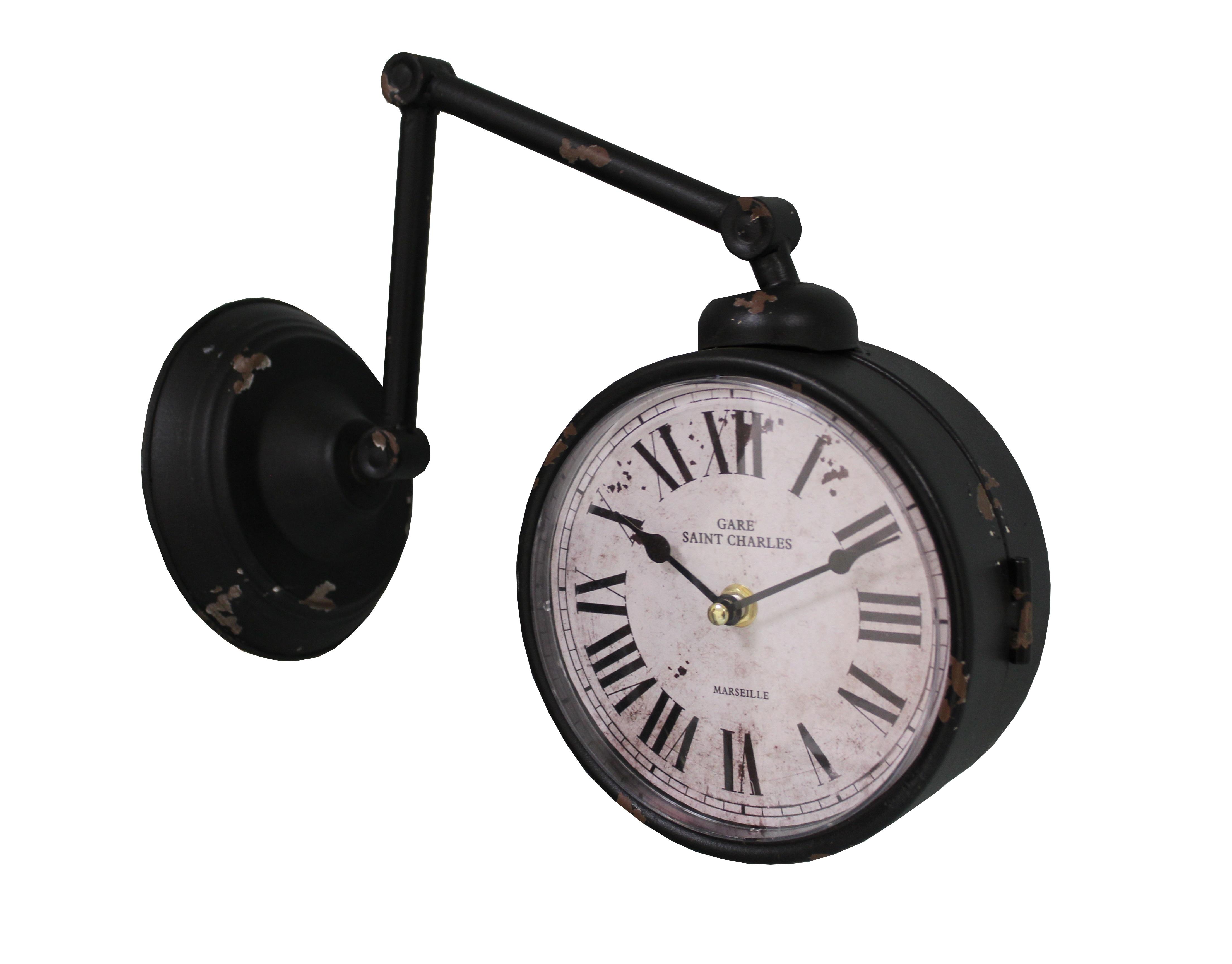 Настенные часы St. CharlesНастенные часы<br>Батарейки типа AА.<br><br>Material: Железо<br>Length см: None<br>Width см: 29<br>Depth см: 16<br>Height см: 28