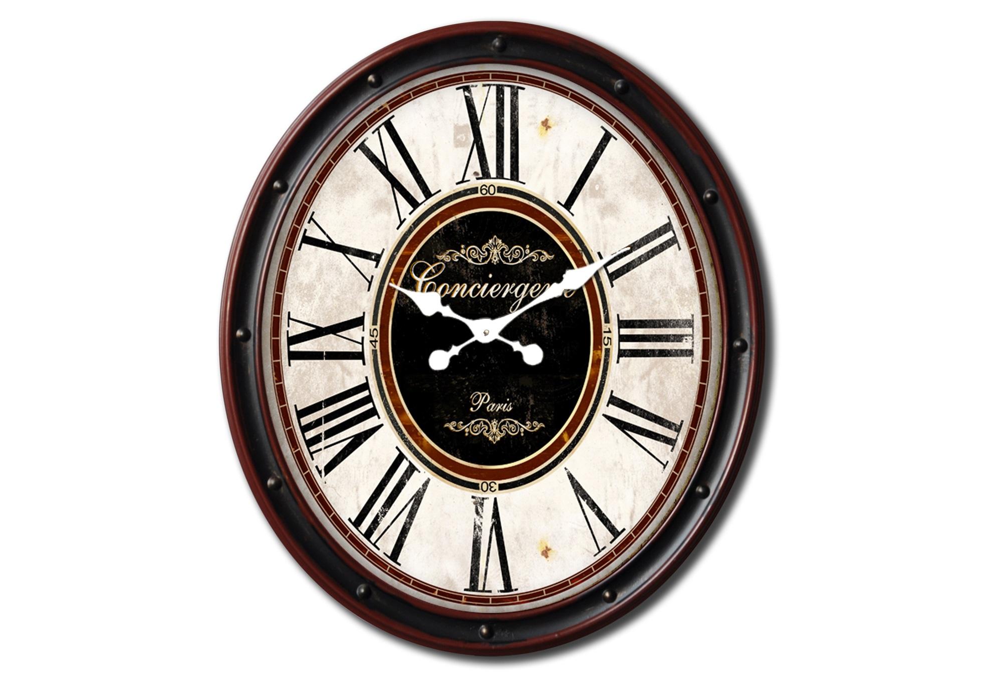 Настенные часы ConciergerieНастенные часы<br>Батарейки типа AА.<br><br>Material: Железо<br>Length см: None<br>Width см: 51<br>Depth см: 5<br>Height см: 60