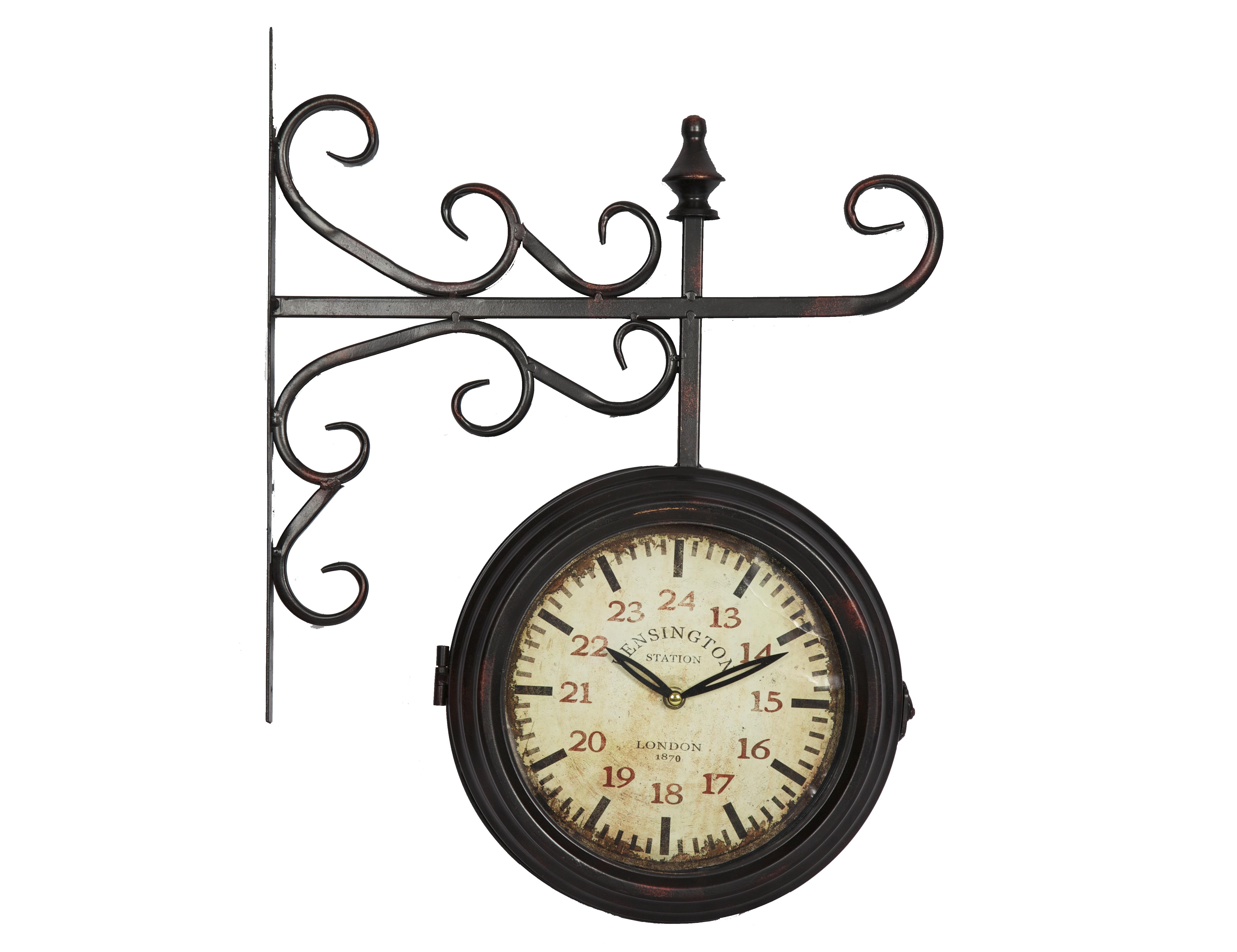 Часы KensingtonНастенные часы<br>Батарейки типа AА.<br><br>Material: Железо<br>Length см: None<br>Width см: 40,5<br>Depth см: 15<br>Height см: None<br>Diameter см: 60